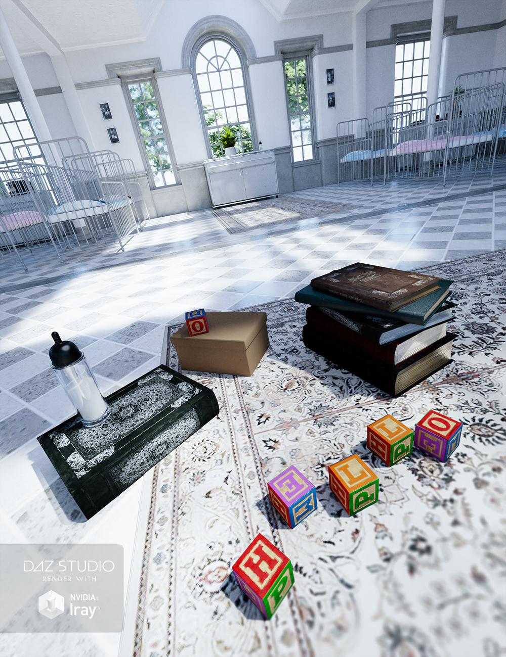 West Park Nursery Props Clinical by: Ravnheart, 3D Models by Daz 3D
