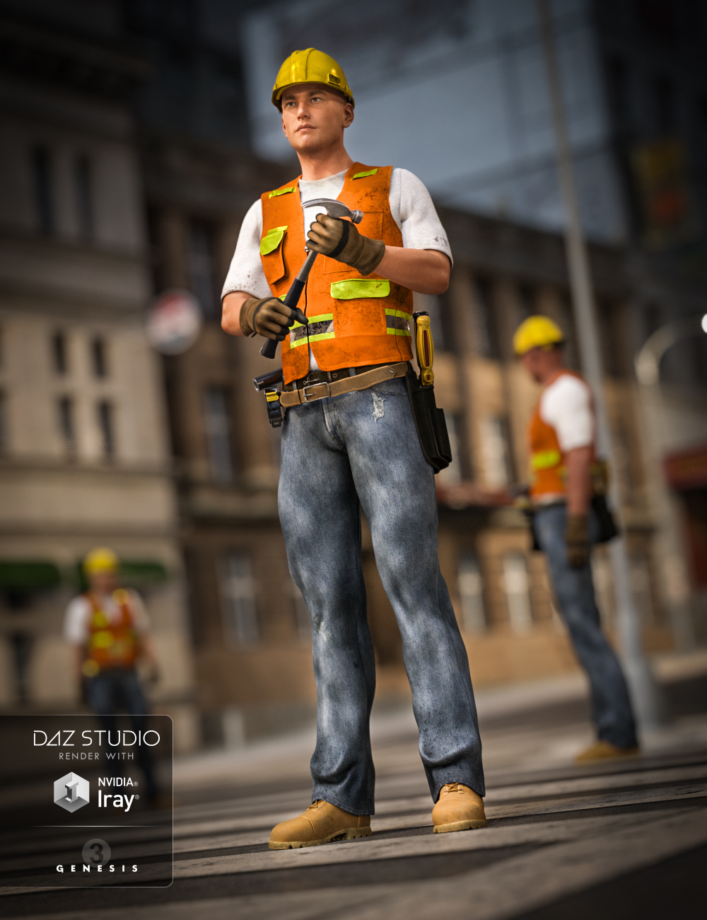 Construction Worker Outfit for Genesis 2 and Genesis 3 Male(s) by: Anna BenjaminRavenhair, 3D Models by Daz 3D