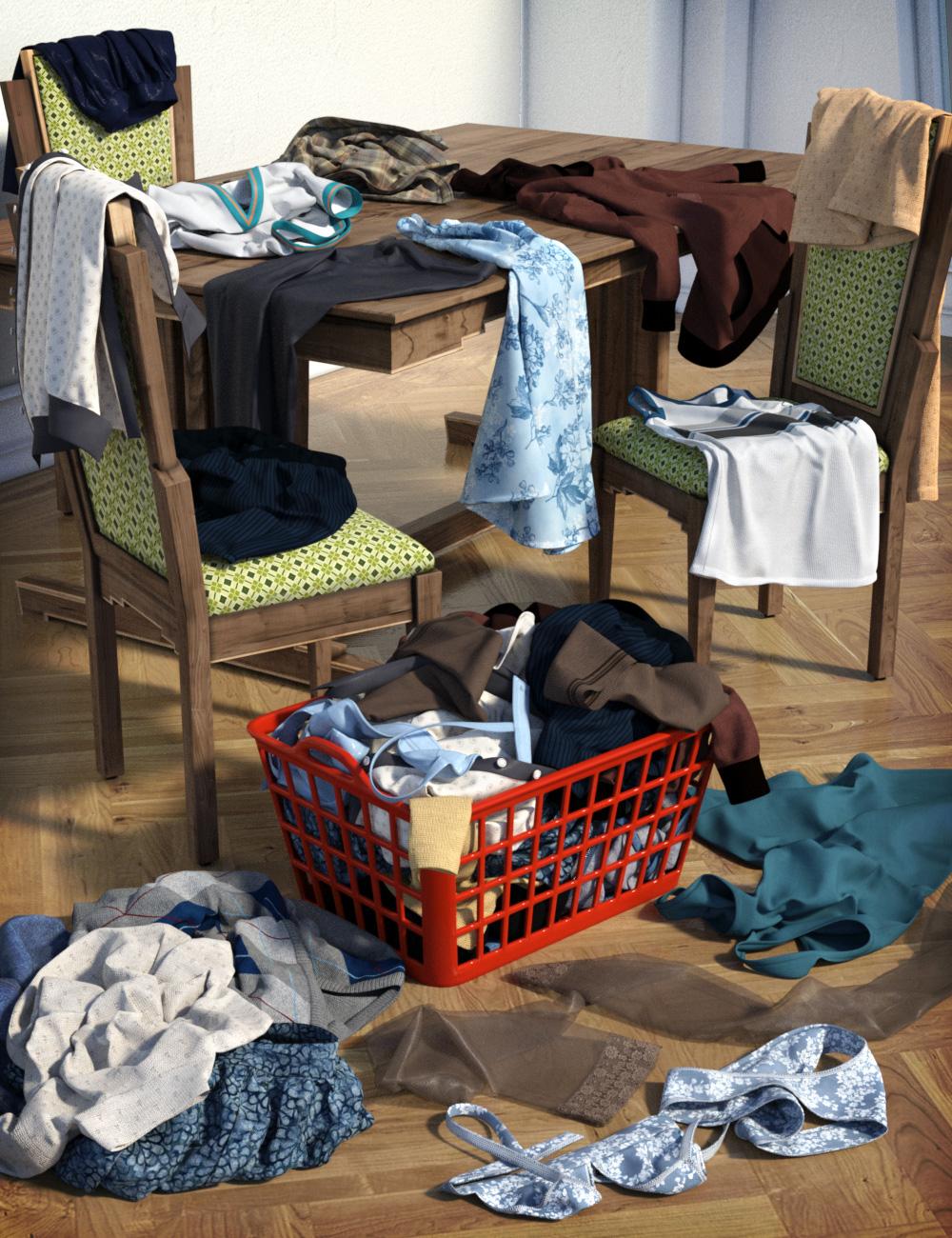 Messy Laundry Mega Set by: esha, 3D Models by Daz 3D