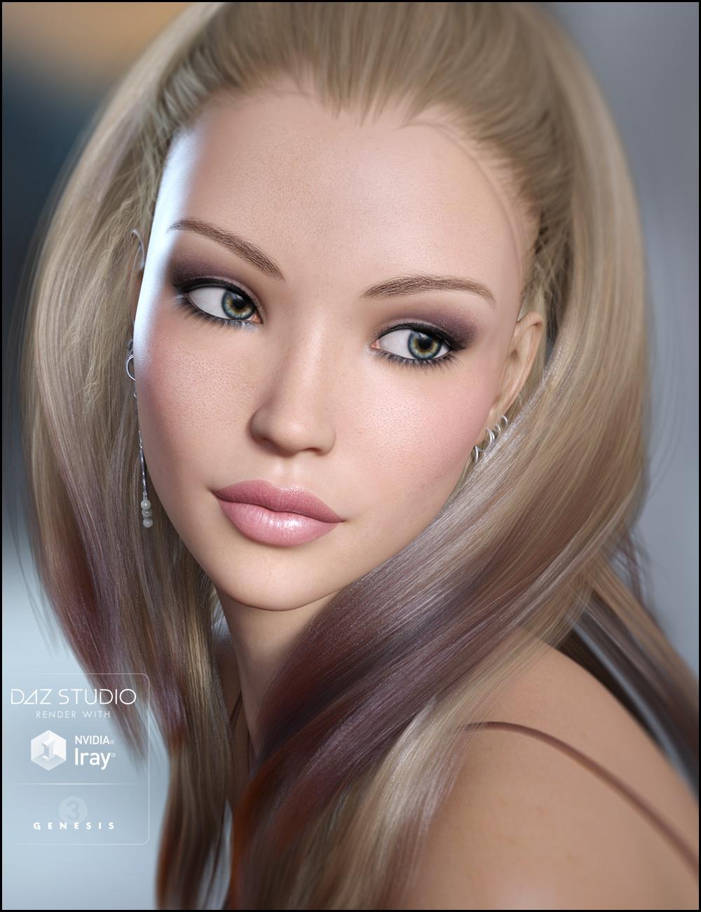 Brittany for Genesis 3 Female(s) by: JessaiiDemonicaEvilius, 3D Models by Daz 3D