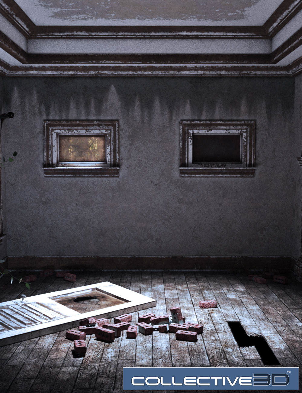 Collective3d Movie Sets Haunted Interior by: Collective3d, 3D Models by Daz 3D