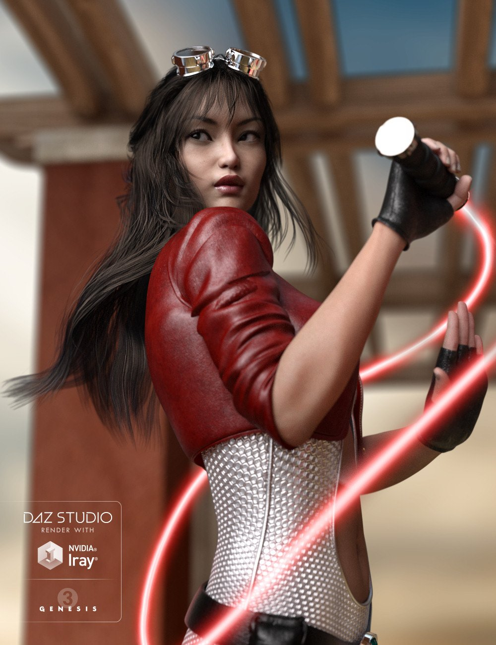 Kanzashi Hair for Genesis 3 Female(s) by: goldtassel, 3D Models by Daz 3D
