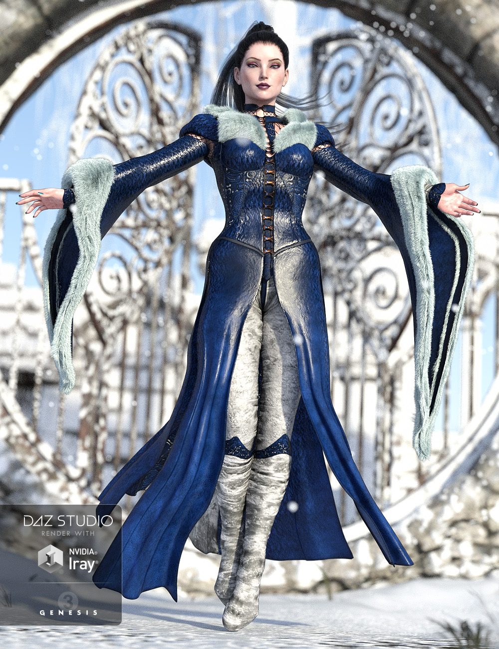 The NightQueen Wardrobe Collection for Genesis 3 Female(s) by: ArkiShox-Design, 3D Models by Daz 3D