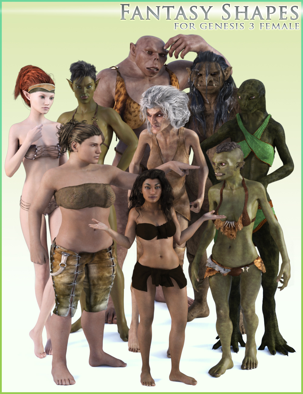 HFS Fantasy Shapes for Genesis 3 Female(s) by: DarioFish, 3D Models by Daz 3D