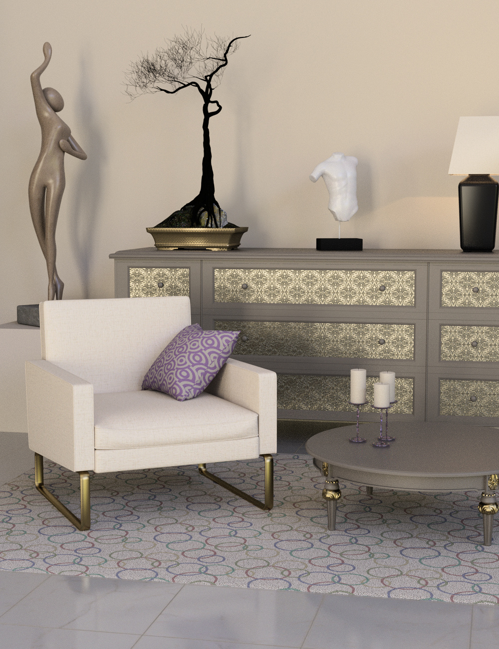 Decorator Kit: Neutral Shader Presets for Iray by: Khory, 3D Models by Daz 3D