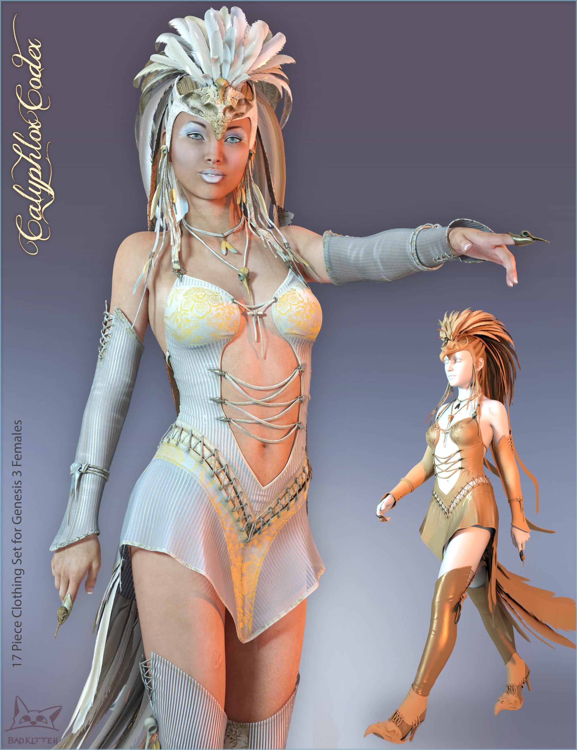 Calyphlox Codex for Genesis 3 Female(s) by: BadKitteh Co, 3D Models by Daz 3D