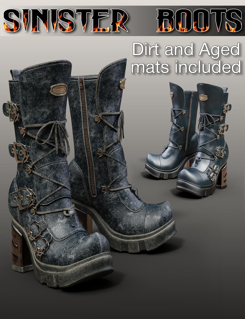 Slide3D Sinister Boots for Genesis 3 Female(s) by: Slide3D, 3D Models by Daz 3D