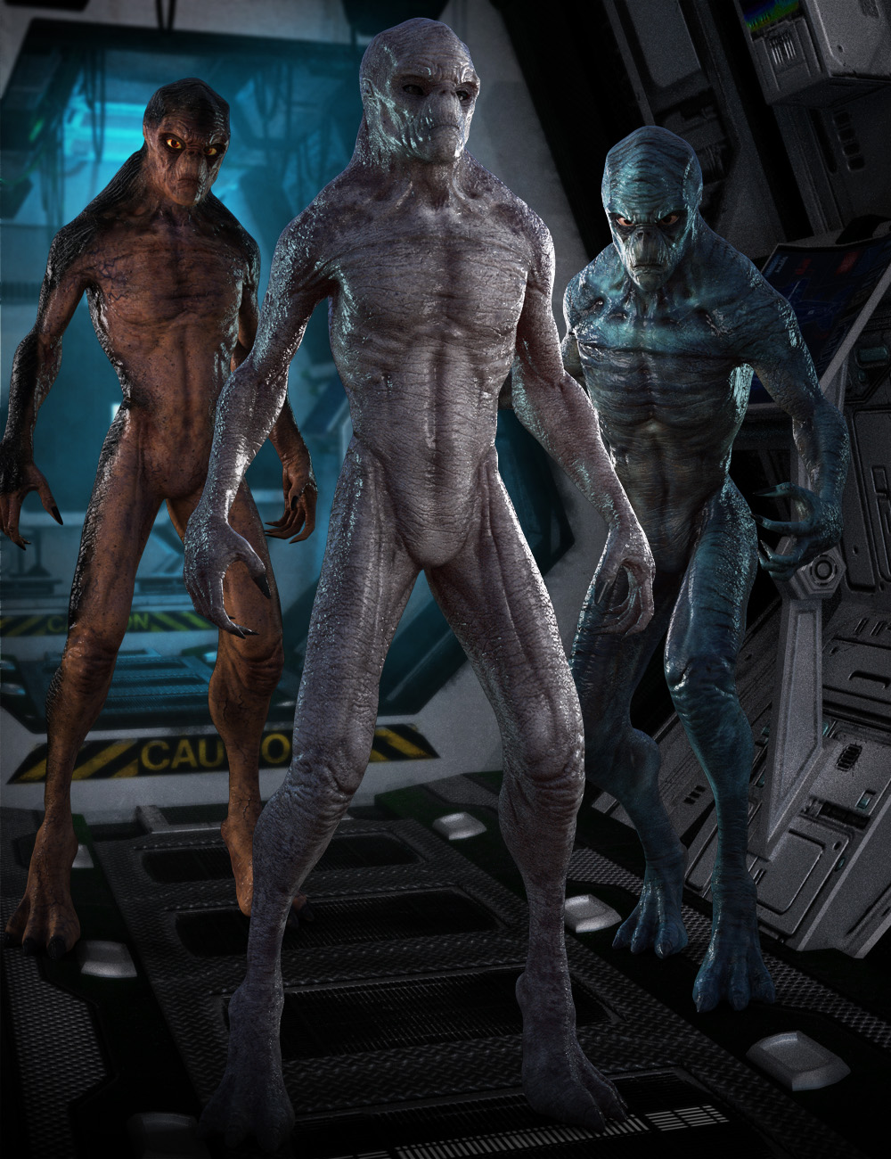 Invasion Textures for Alien-X by: , 3D Models by Daz 3D