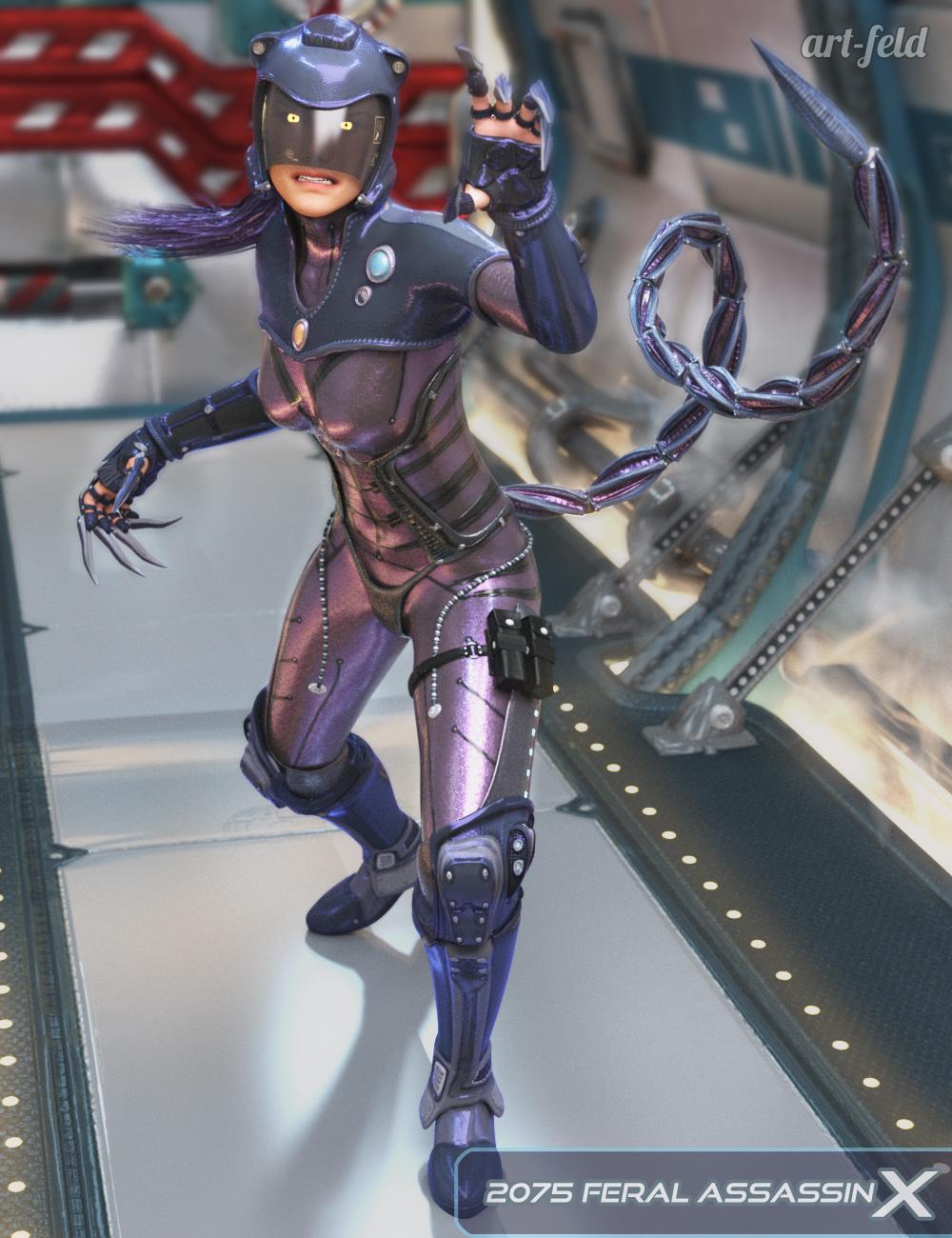 2075 Feral Assassin X for Genesis 3 Female(s) by: art-feld, 3D Models by Daz 3D