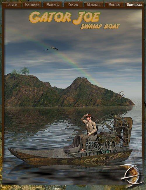 Desolation Earth - Gator Joe Swamp Boat by: AbrahamDaniemarforno, 3D Models by Daz 3D