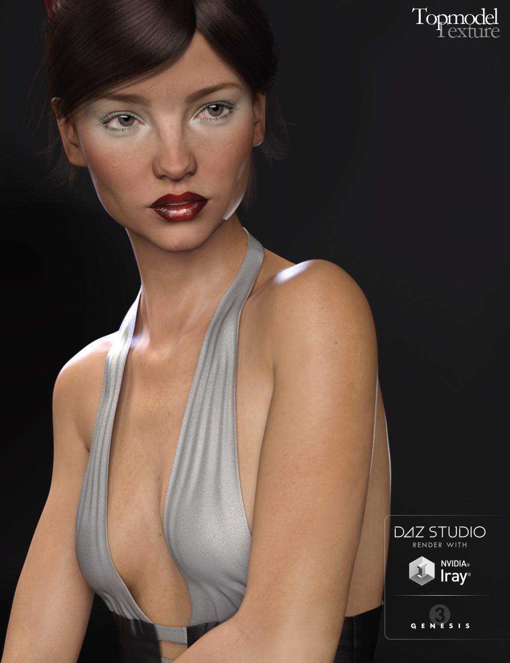 Topmodel Texture for Genesis 3 Female(s) by: Raiya, 3D Models by Daz 3D