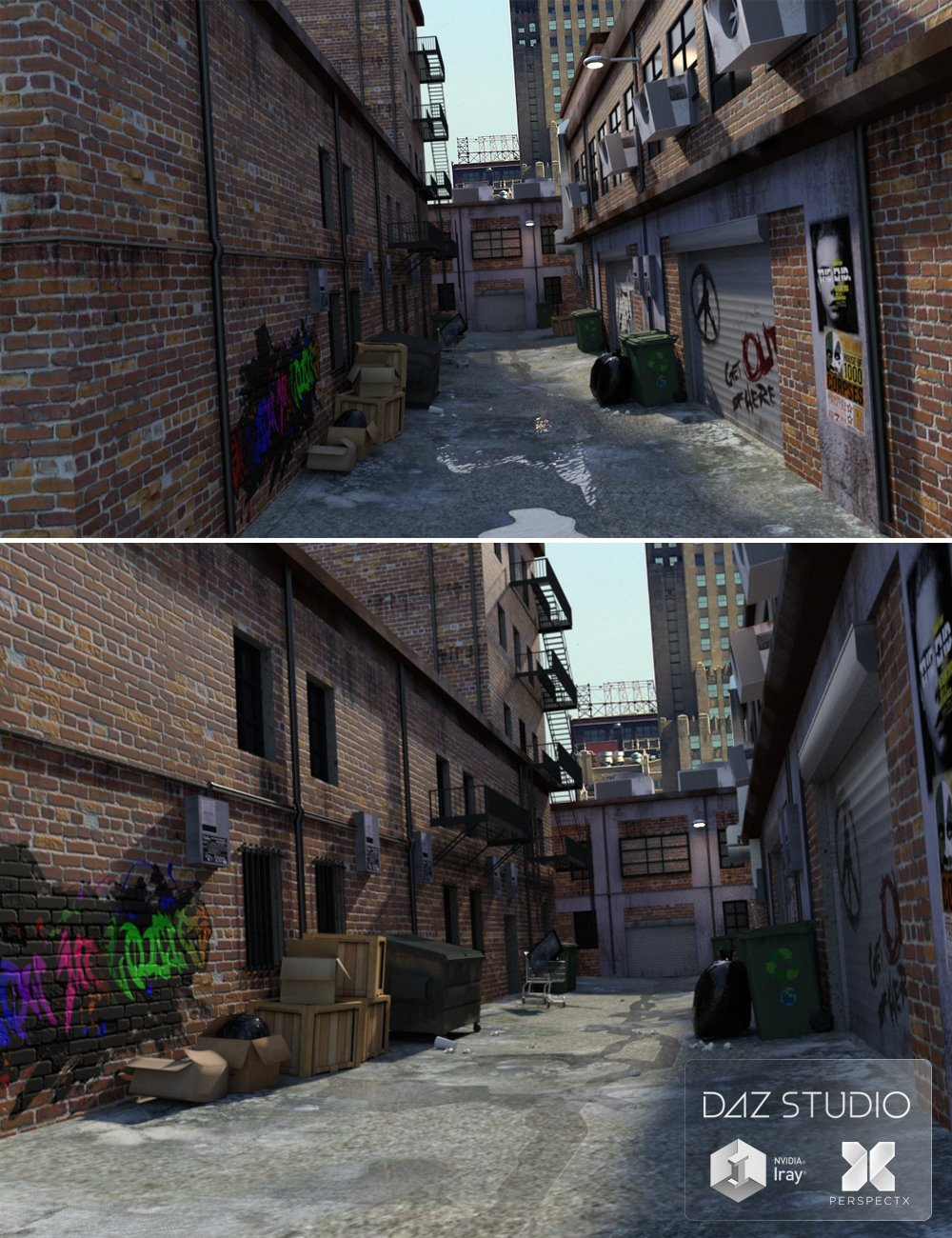 The Alley by: PerspectX, 3D Models by Daz 3D