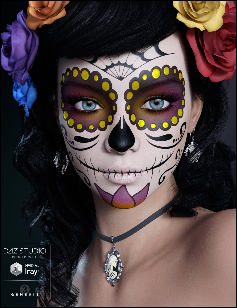 Sugar Skulls: Skelita by: JessaiiDemonicaEvilius, 3D Models by Daz 3D