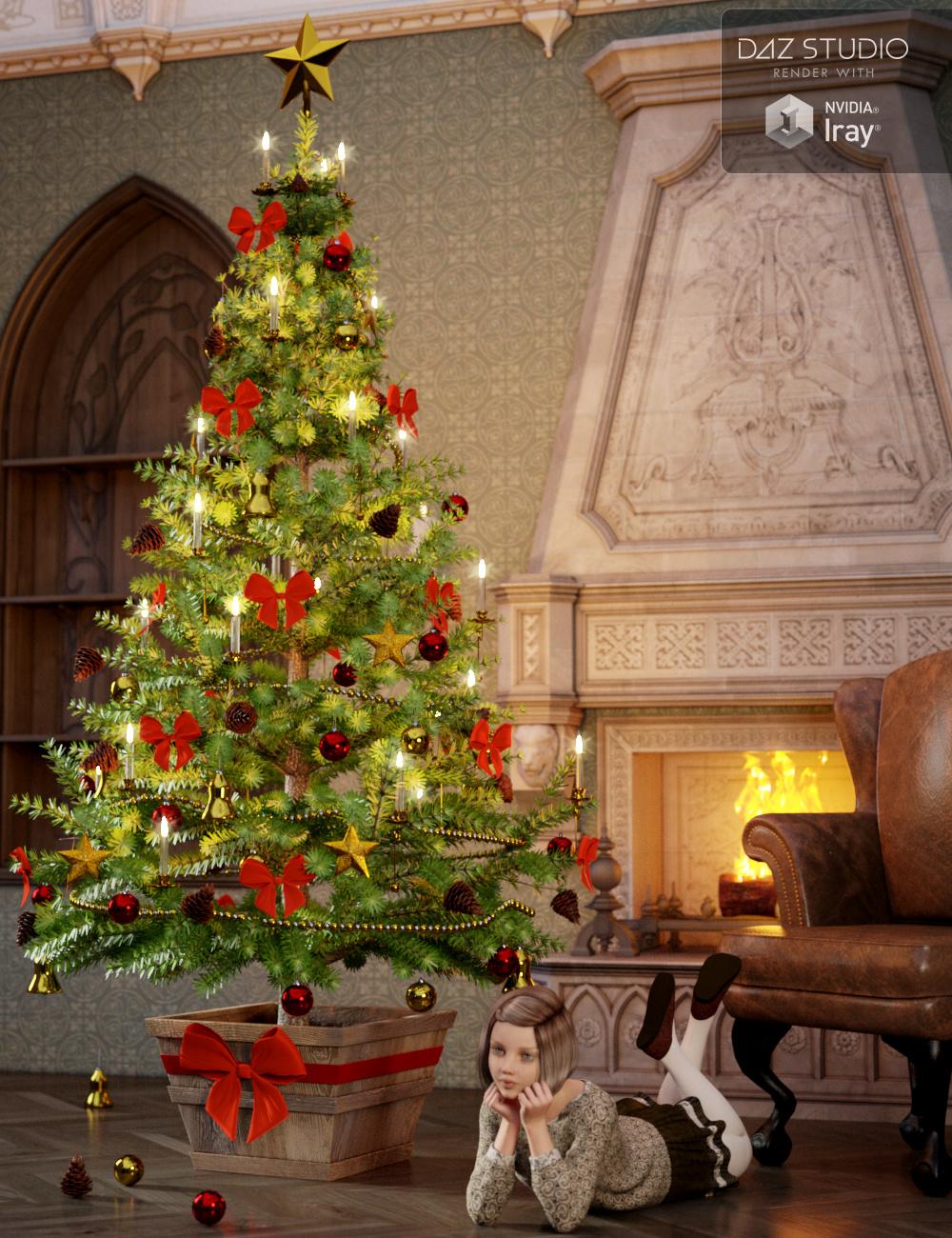 Victorian Christmas Tree by: Merlin Studios, 3D Models by Daz 3D