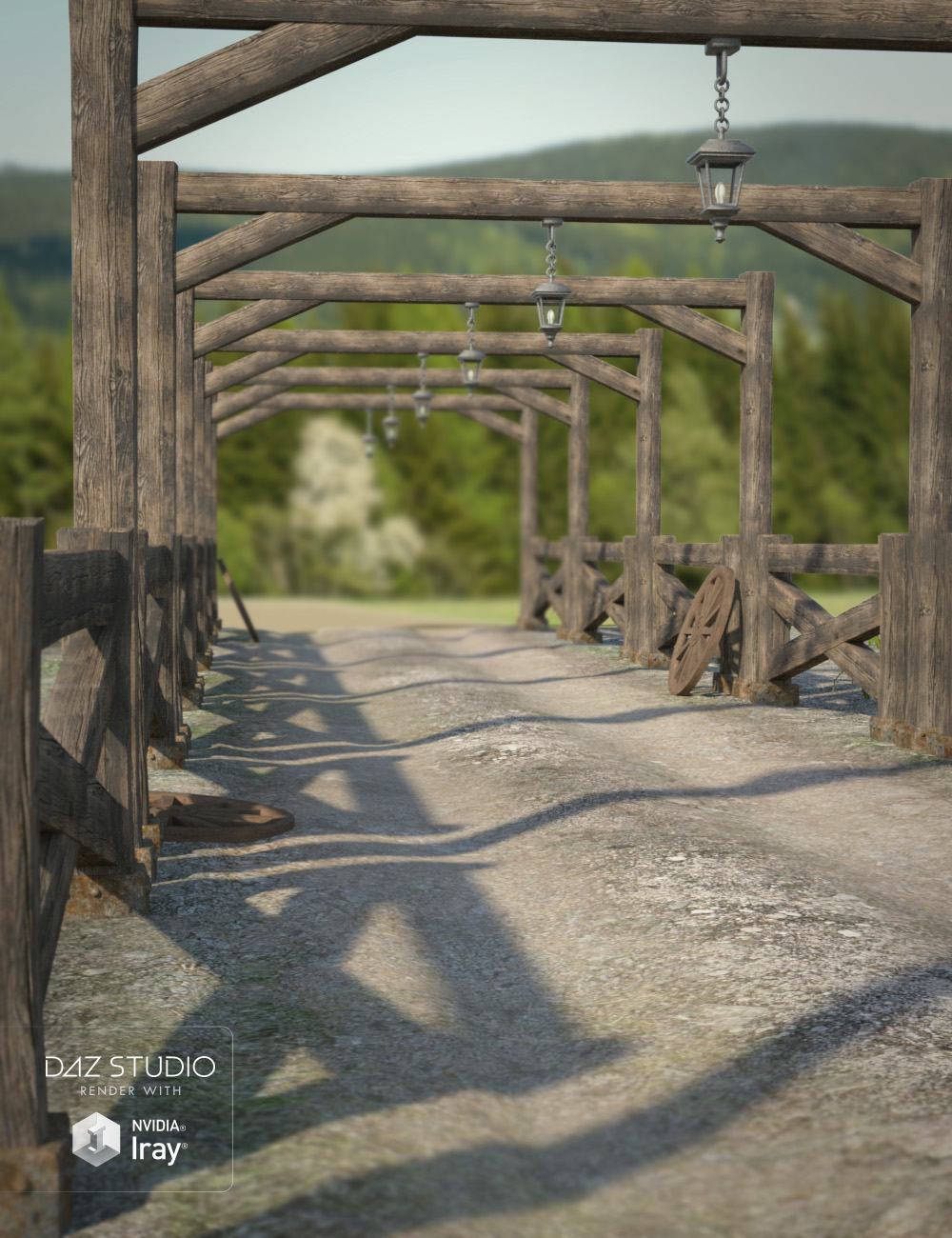 Ranch Road Path by: , 3D Models by Daz 3D