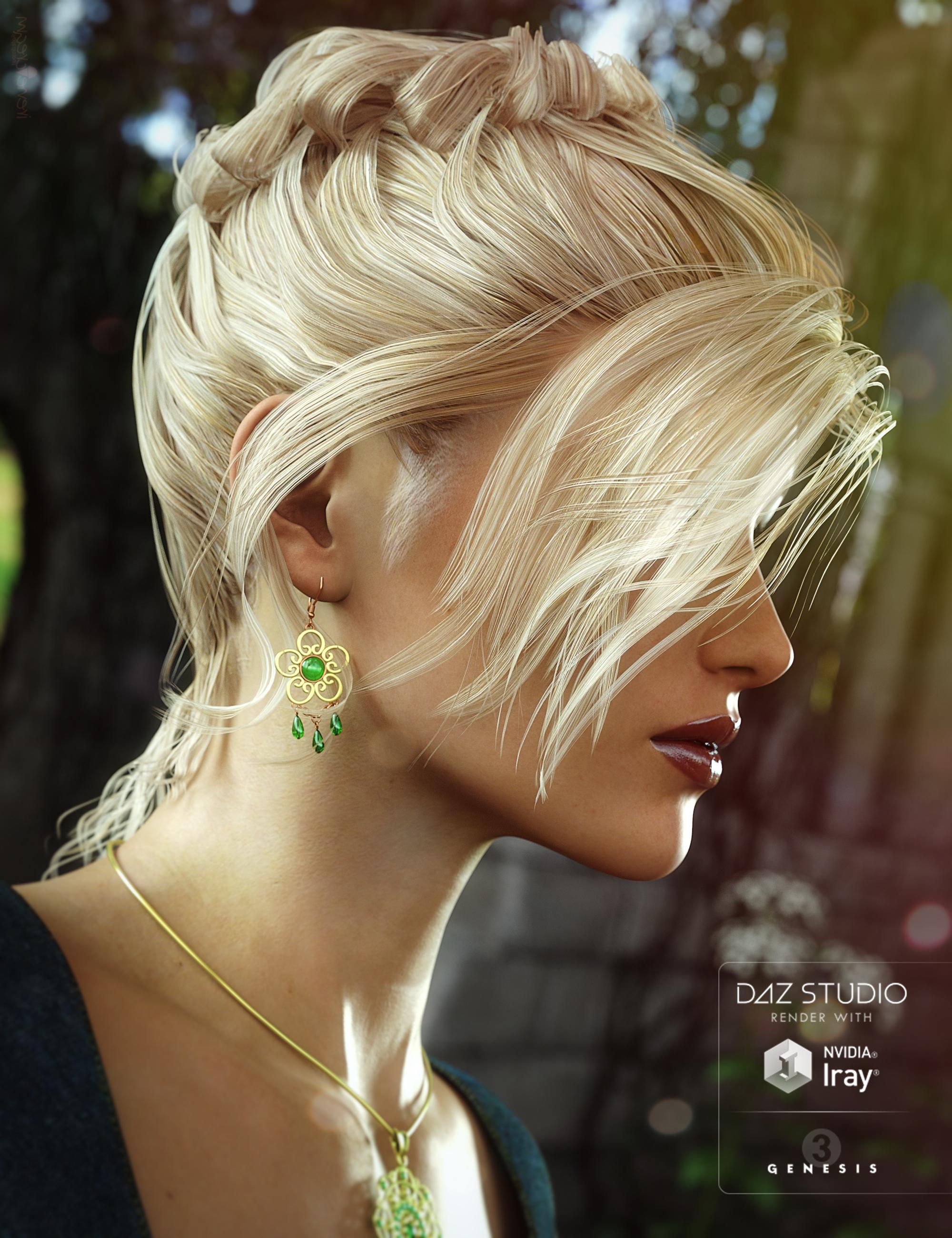 Date Night Hair for Genesis 3 Female(s) by: goldtassel, 3D Models by Daz 3D