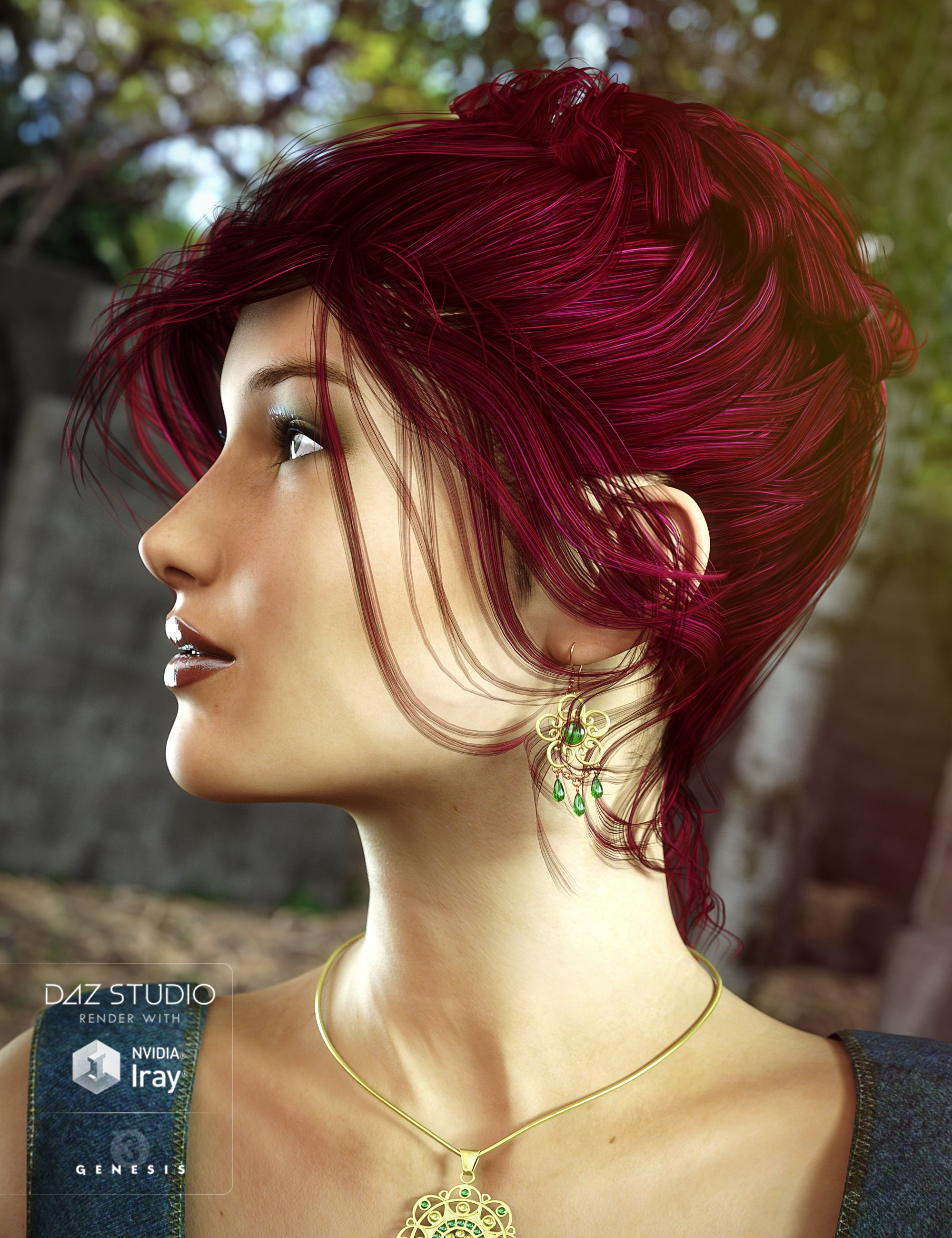 Colors for Date Night Hair by: goldtassel, 3D Models by Daz 3D