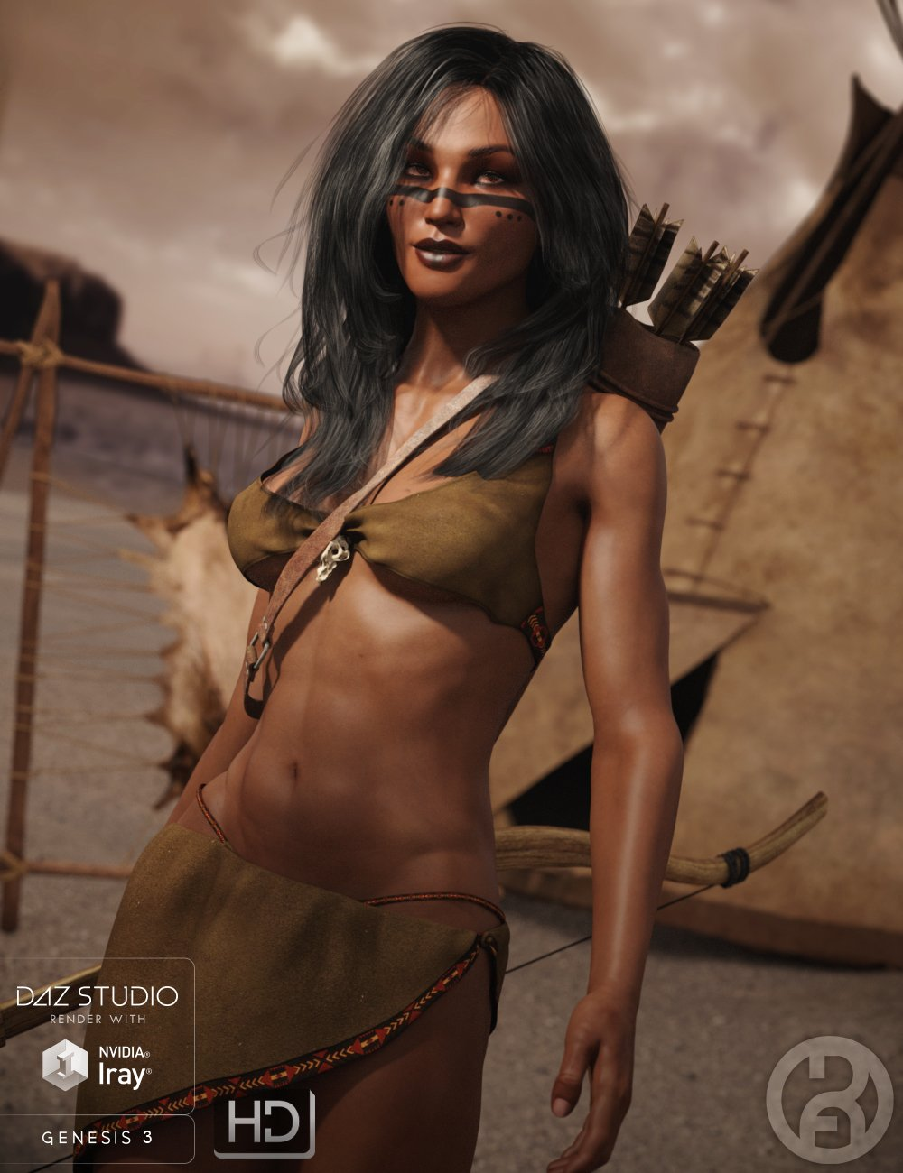 Anicinabe for Genesis 3 Female by: RawArt, 3D Models by Daz 3D