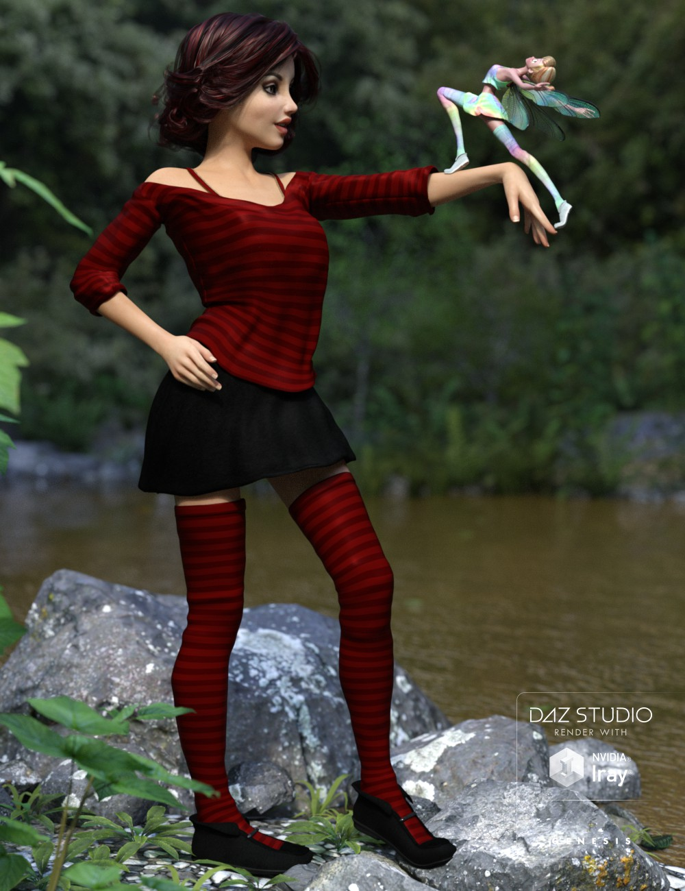 Patty Clothes for Genesis 3 Female(s) and Star 2.0 by: 3D-GHDesign, 3D Models by Daz 3D