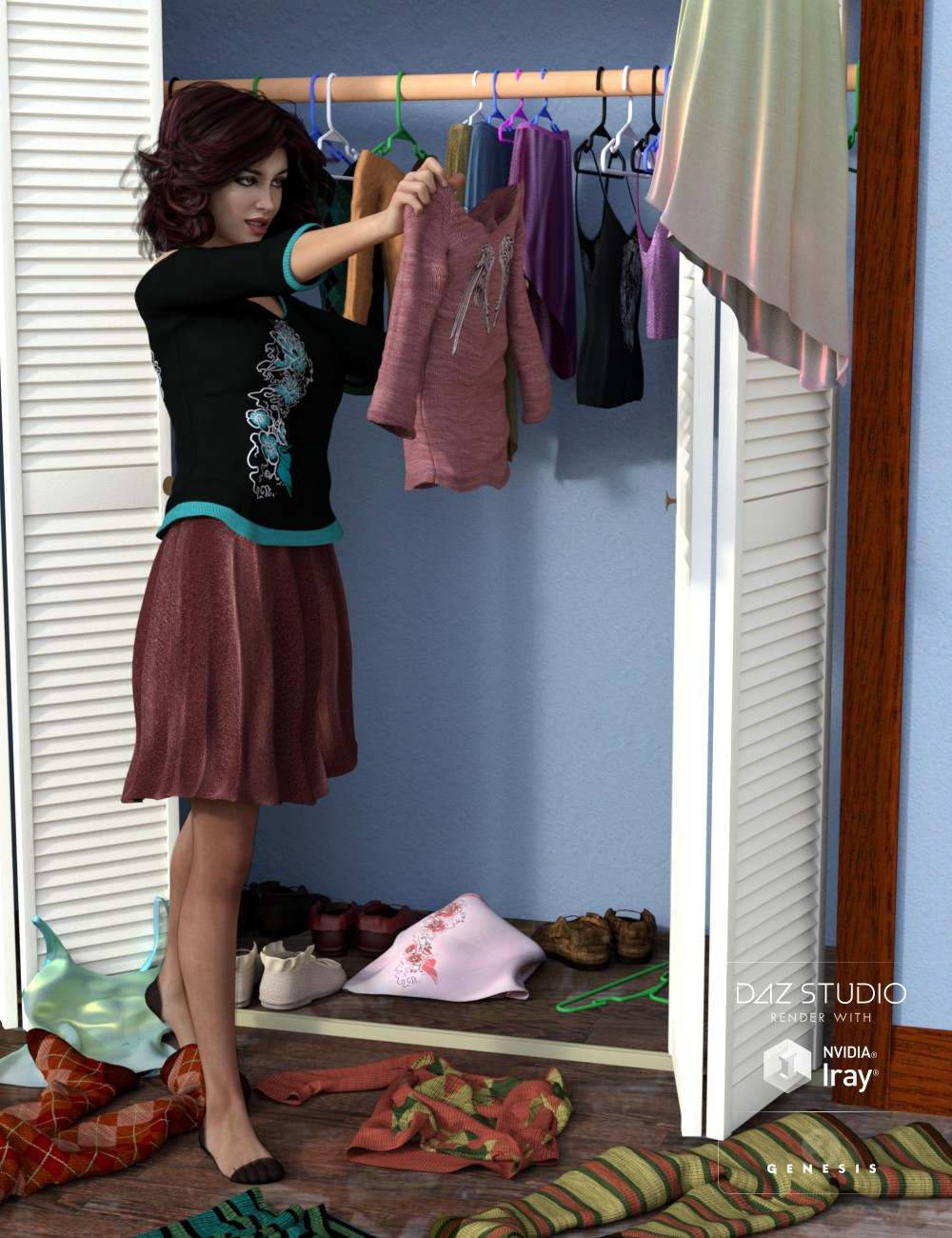 Patty Clothes Morphs and Textures by: 3D-GHDesign, 3D Models by Daz 3D