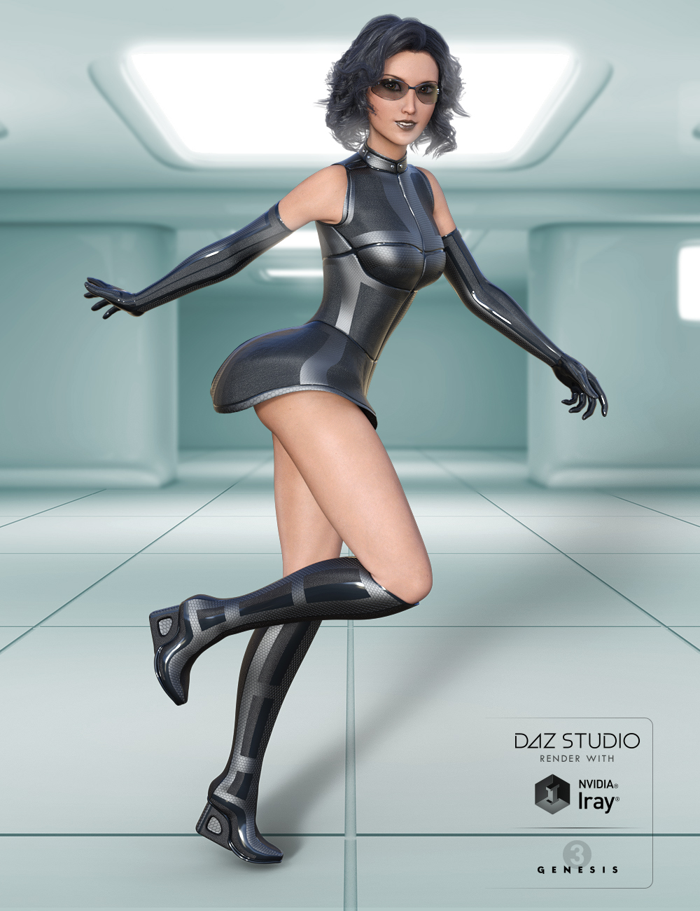Oculic Outfit for Genesis 3 Female(s) by: midnight_stories, 3D Models by Daz 3D
