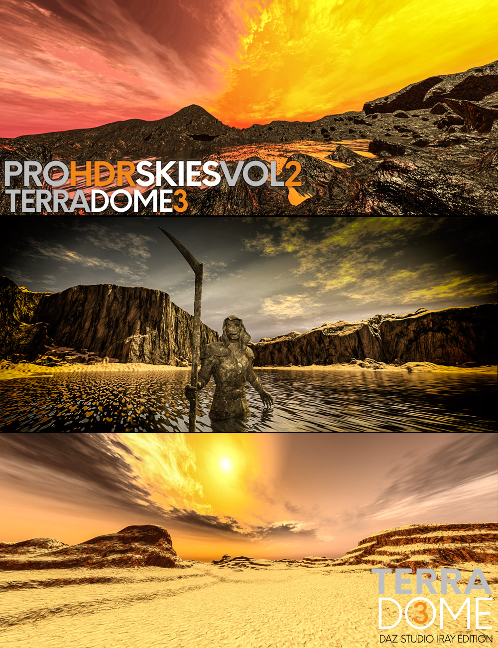 PRO-HDR-SKIES Vol_2 for TerraDome 3 by: Colm Jackson, 3D Models by Daz 3D