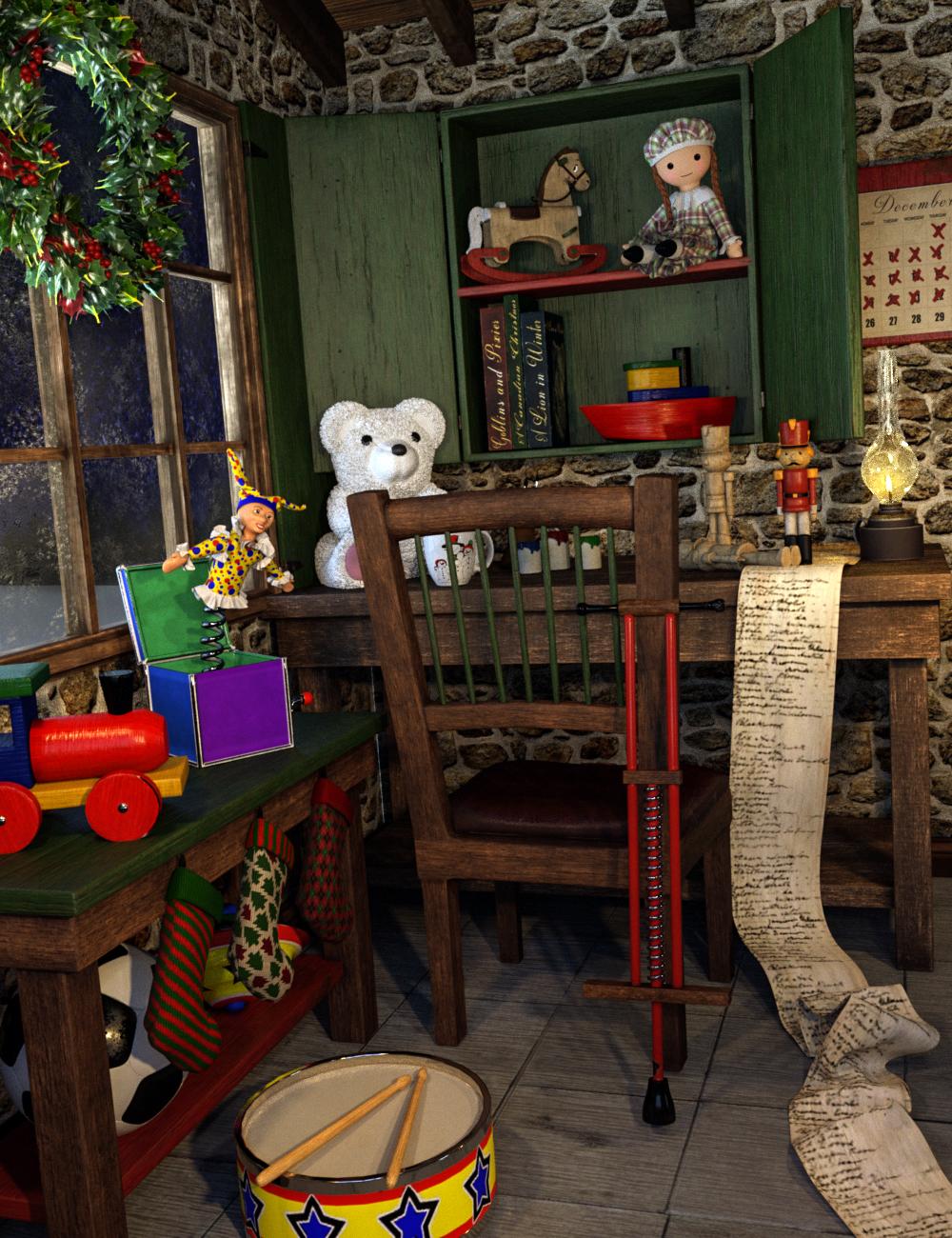 Santa's Toy Workshop by: SloshWerks, 3D Models by Daz 3D