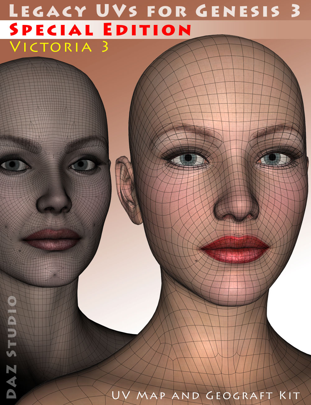 Legacy UVs for Genesis 3: Special Edition - Victoria 3 by: Cayman Studios, 3D Models by Daz 3D