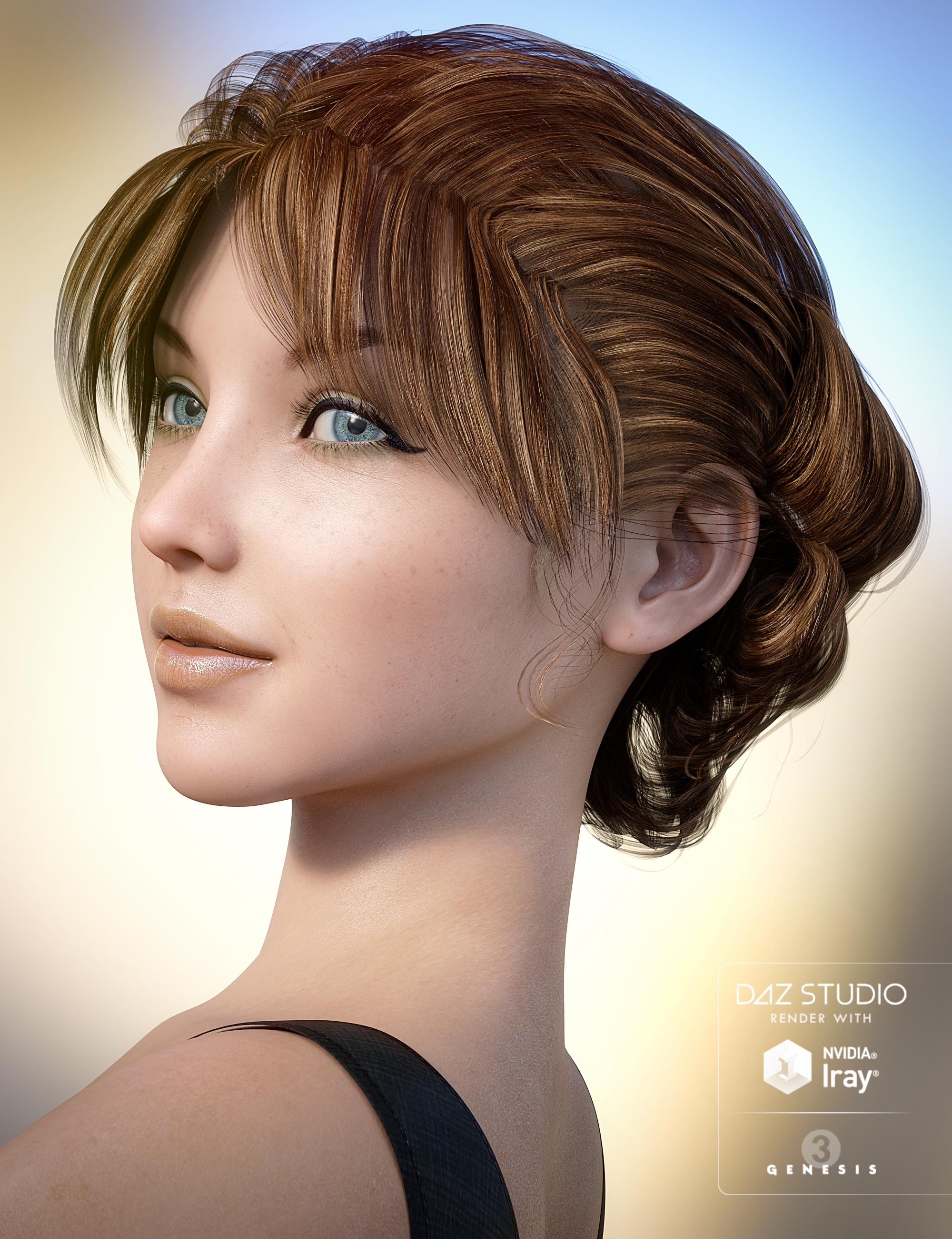 Classic Roll Hair for Genesis 3 Female(s) by: goldtassel, 3D Models by Daz 3D