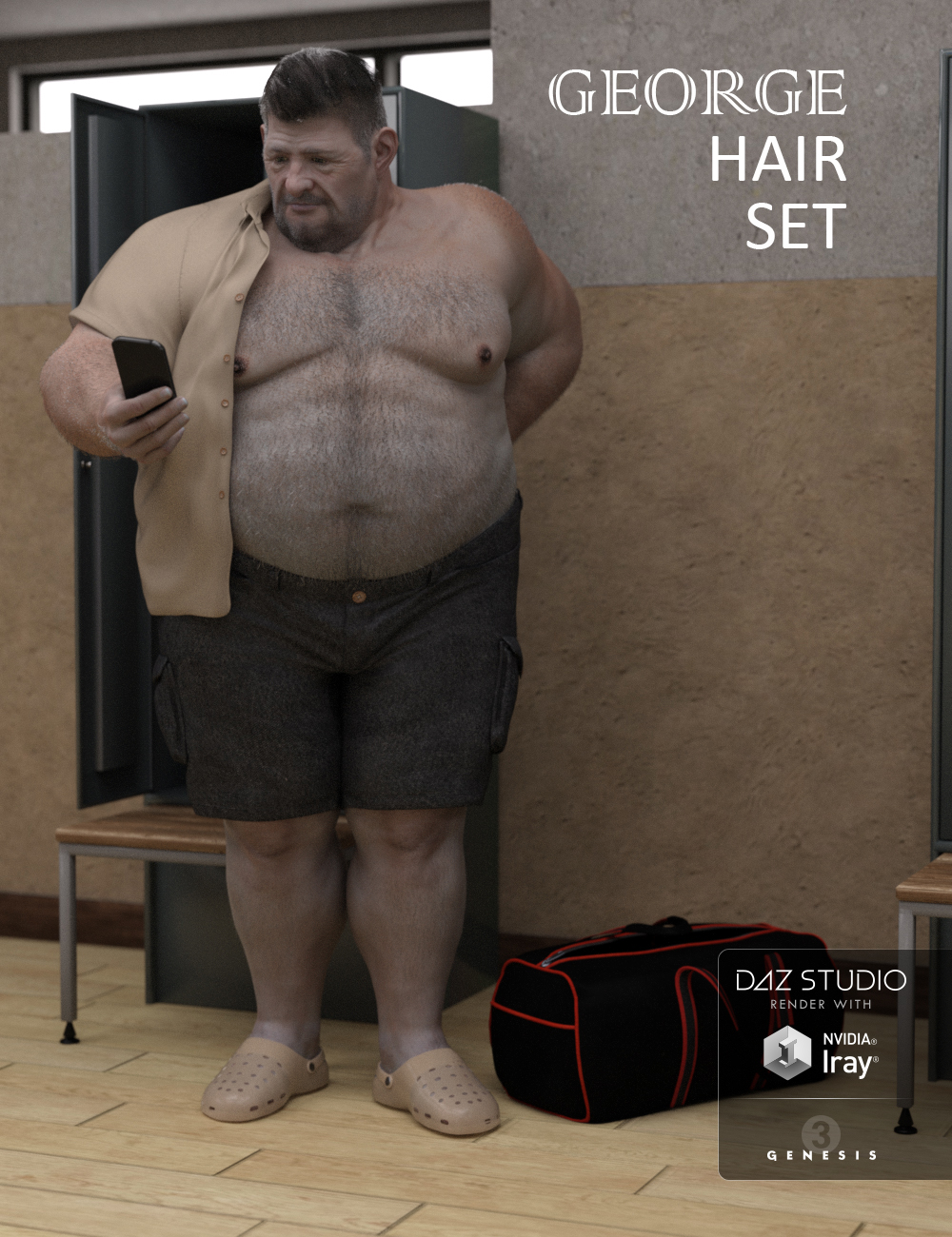 George Hair Set by: Deepsea, 3D Models by Daz 3D