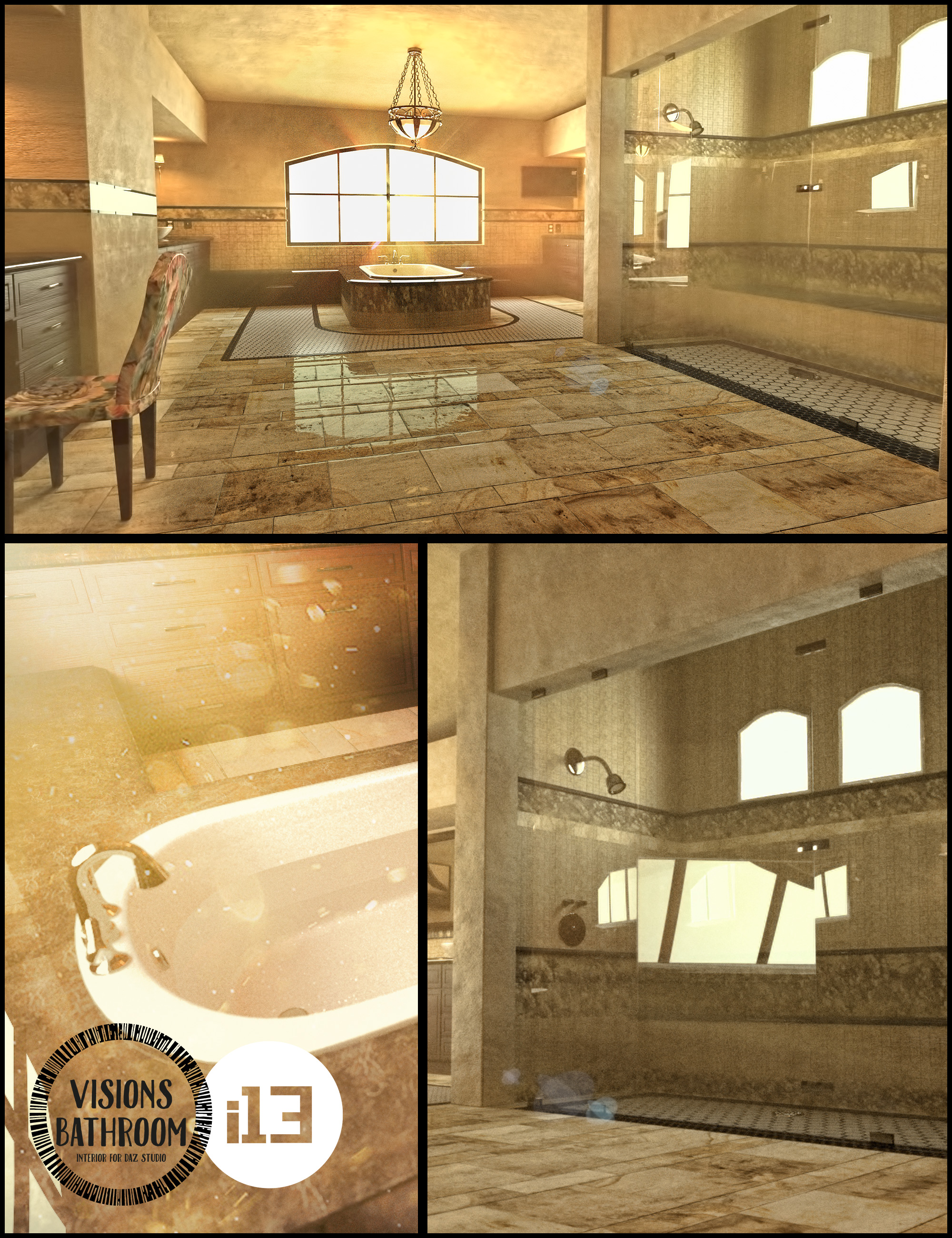 i13 Visions Bathroom Interior by: ironman13, 3D Models by Daz 3D