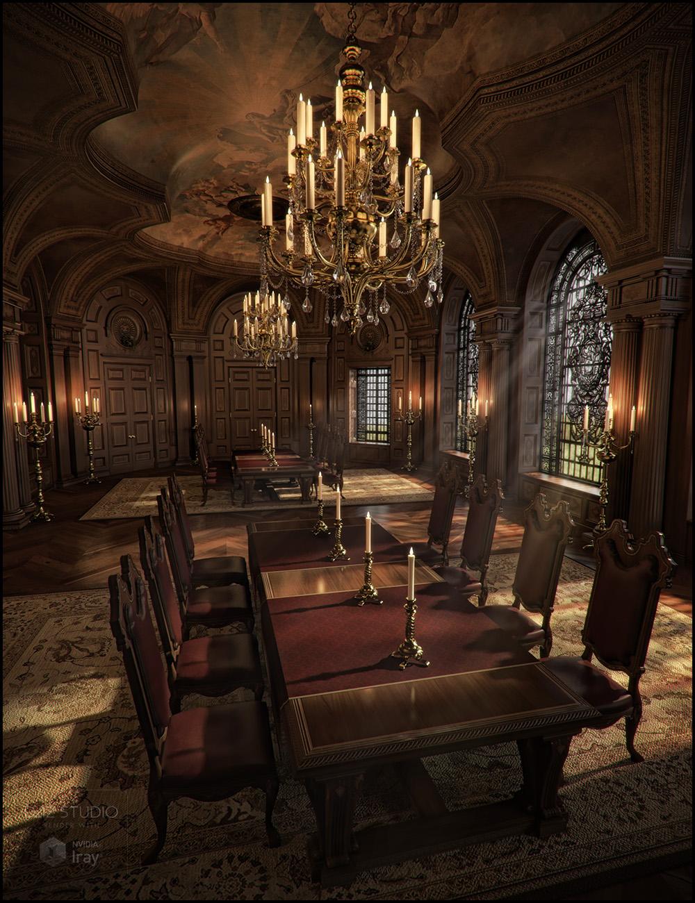 Baroque Grandeur Iray Addon by: Jack Tomalin, 3D Models by Daz 3D