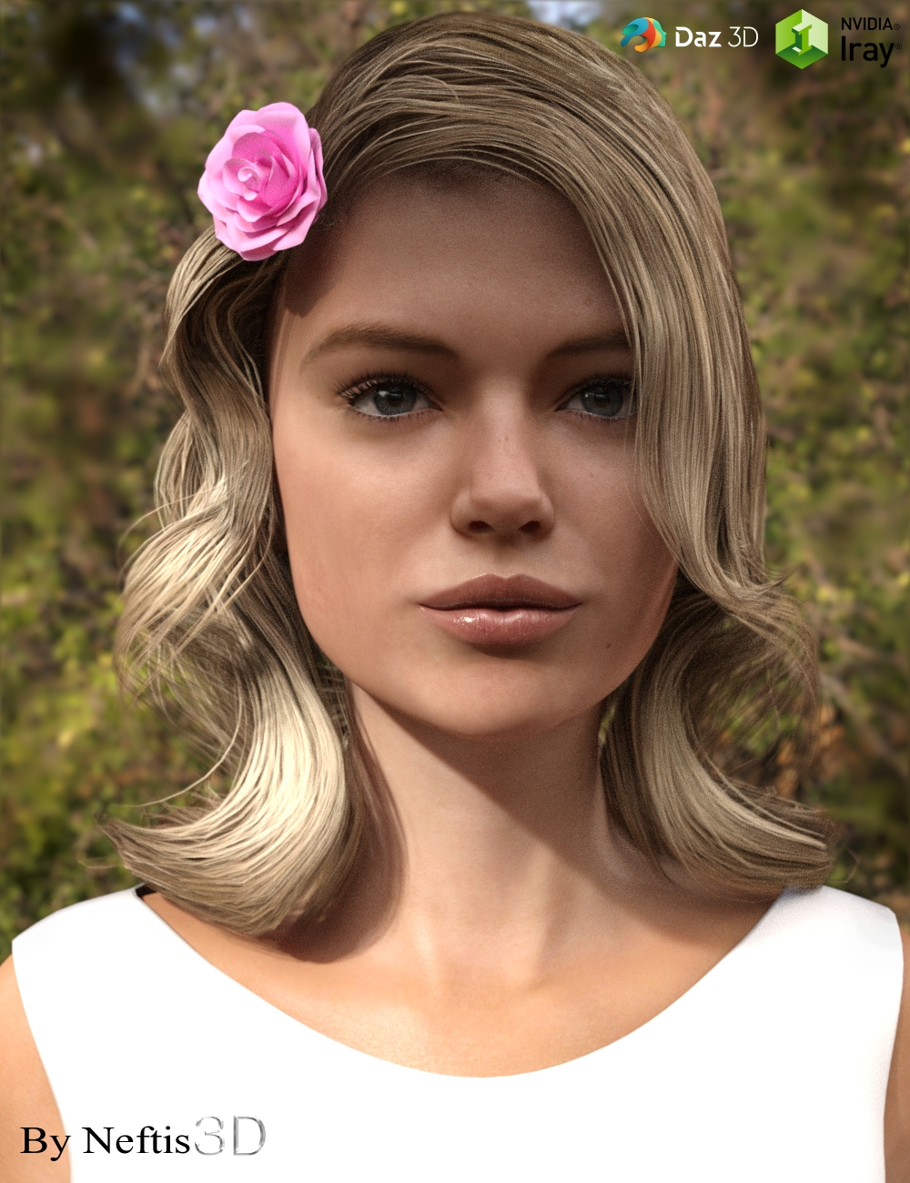 AnnaRose Hair for Genesis 3 Female(s) by: Neftis3D, 3D Models by Daz 3D