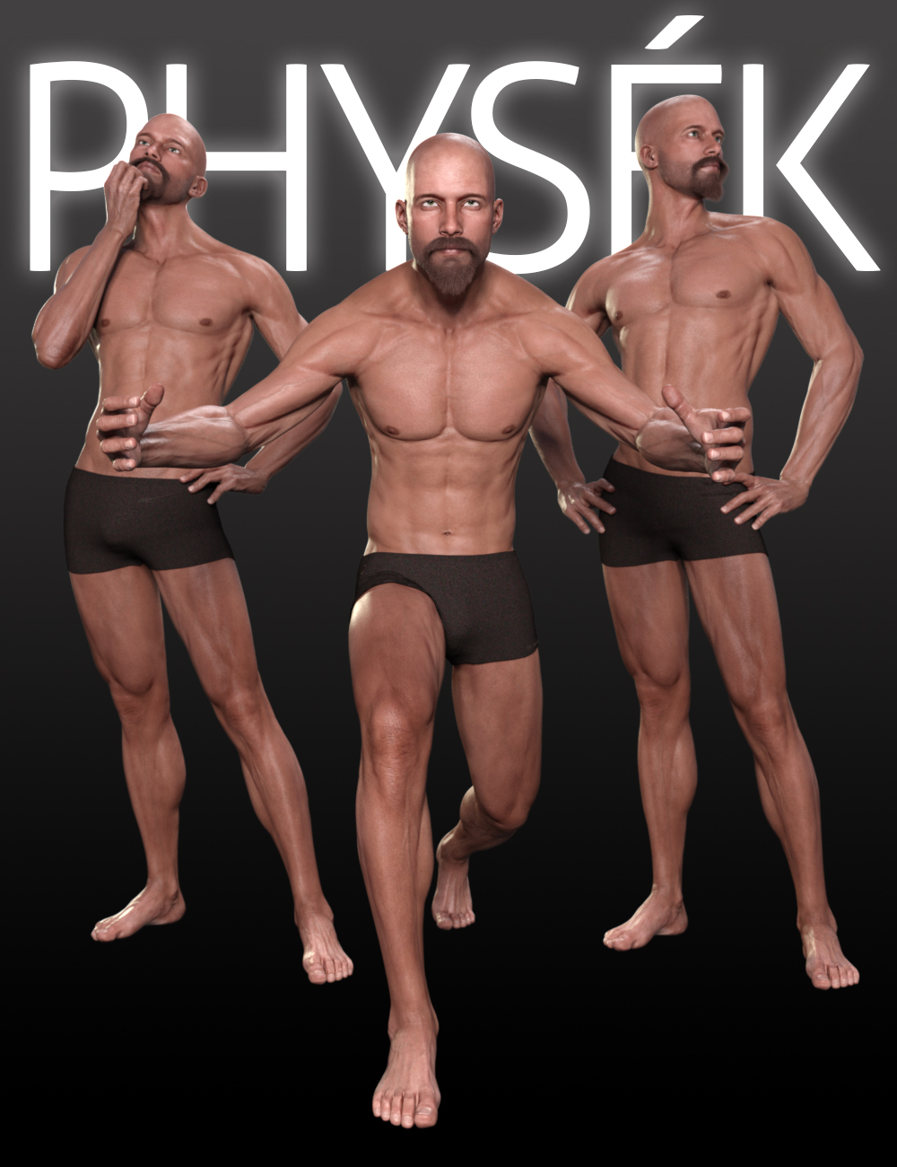 PHYSEK Poses for Michael 7 & Leo 7 by: Shimuzu, 3D Models by Daz 3D