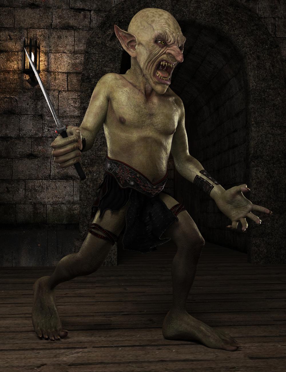 Robbus Goblin HD for Genesis 3 Male by: , 3D Models by Daz 3D