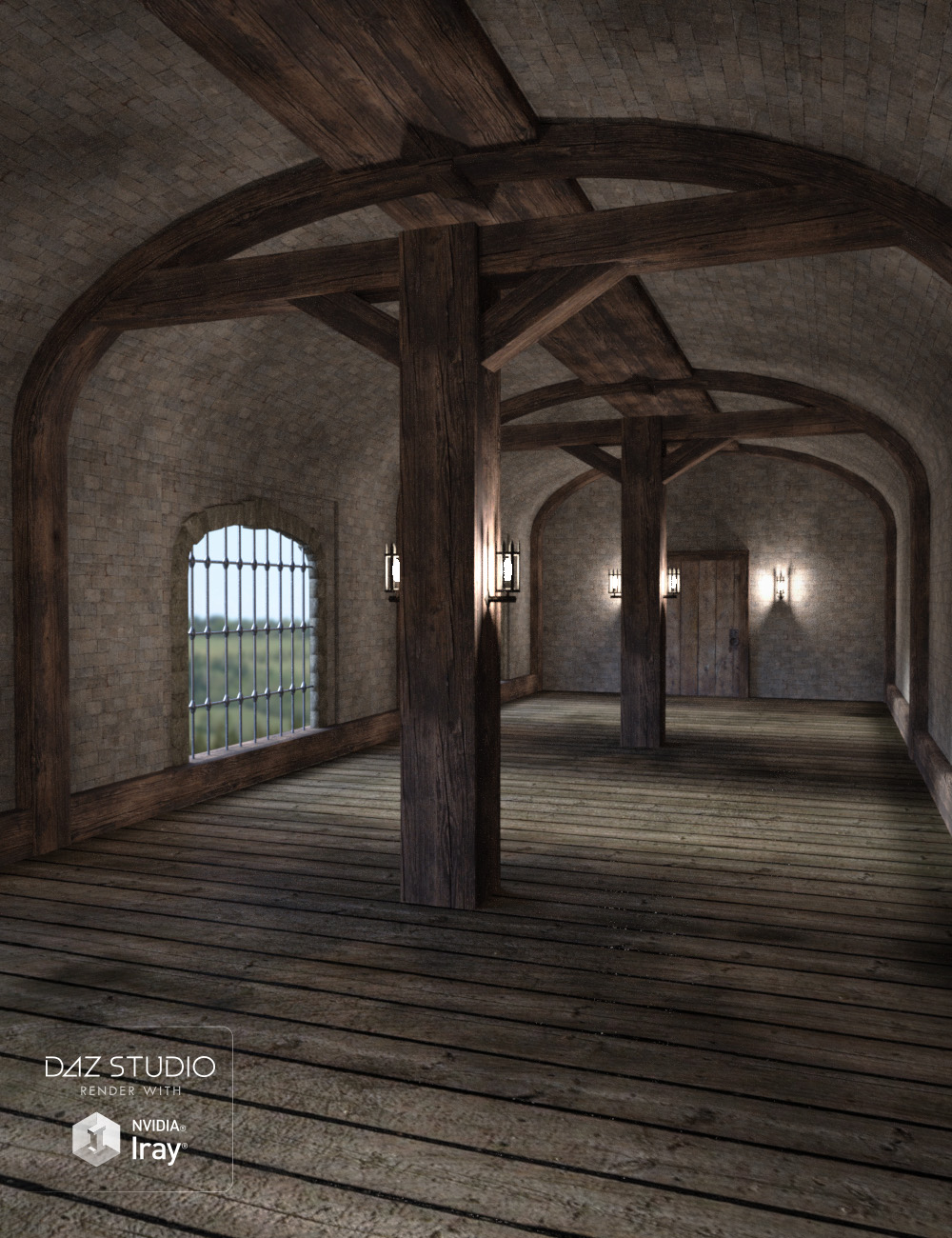 Fantasy Hall by: , 3D Models by Daz 3D