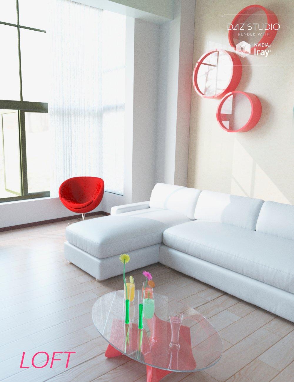 Contemporary Loft by: Human, 3D Models by Daz 3D
