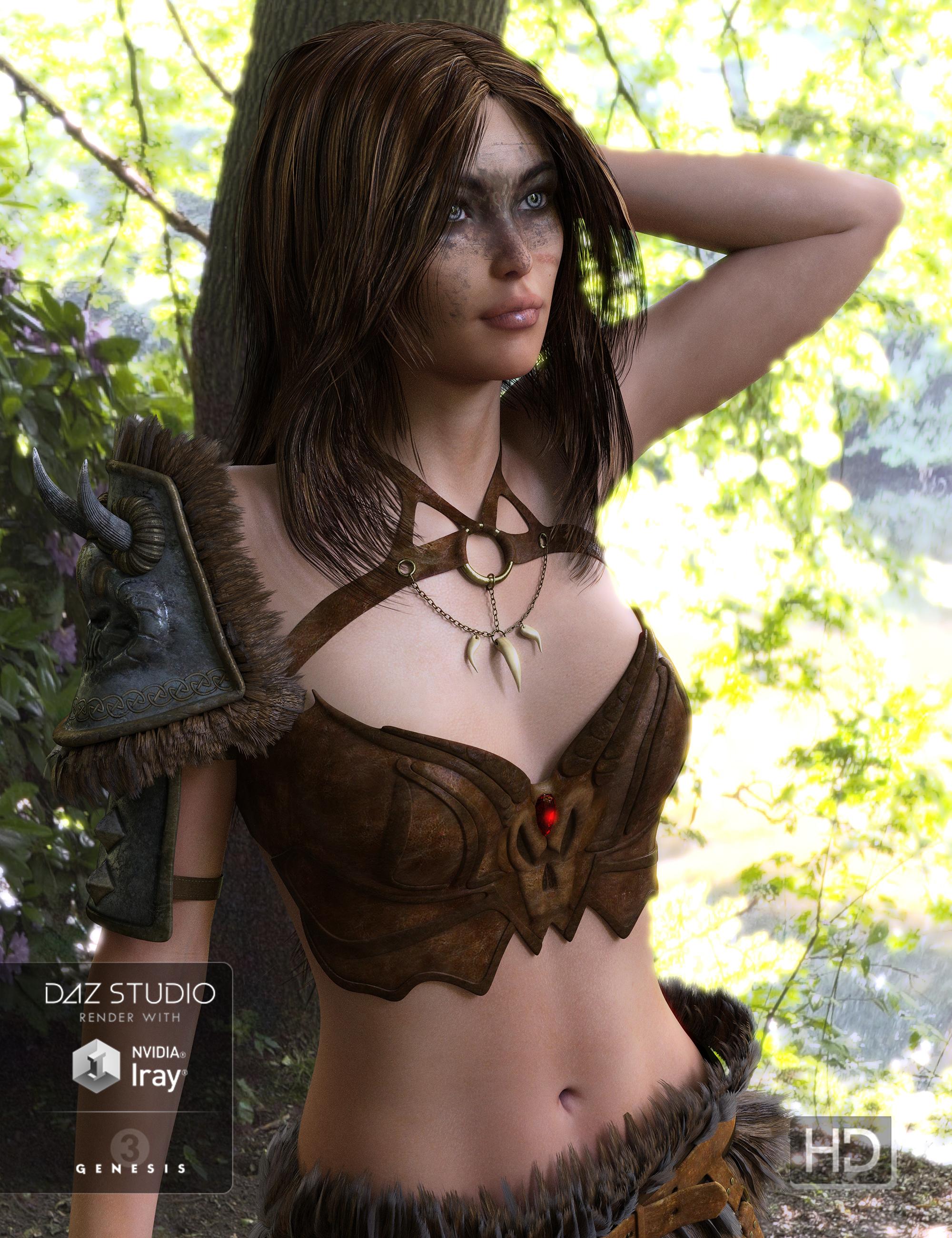 Untamed Warrior for Genesis 3 Female(s) by: Ryverthorn, 3D Models by Daz 3D