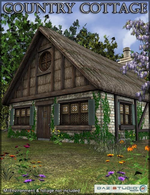 Country Cottage by: , 3D Models by Daz 3D