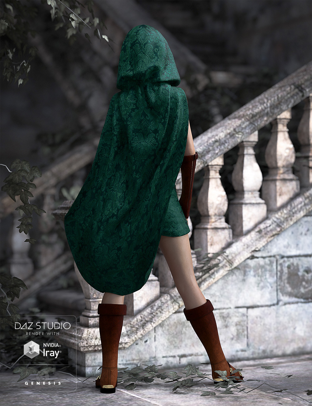Fantasy Thief for Genesis 3 Female(s) by: Ravnheart, 3D Models by Daz 3D