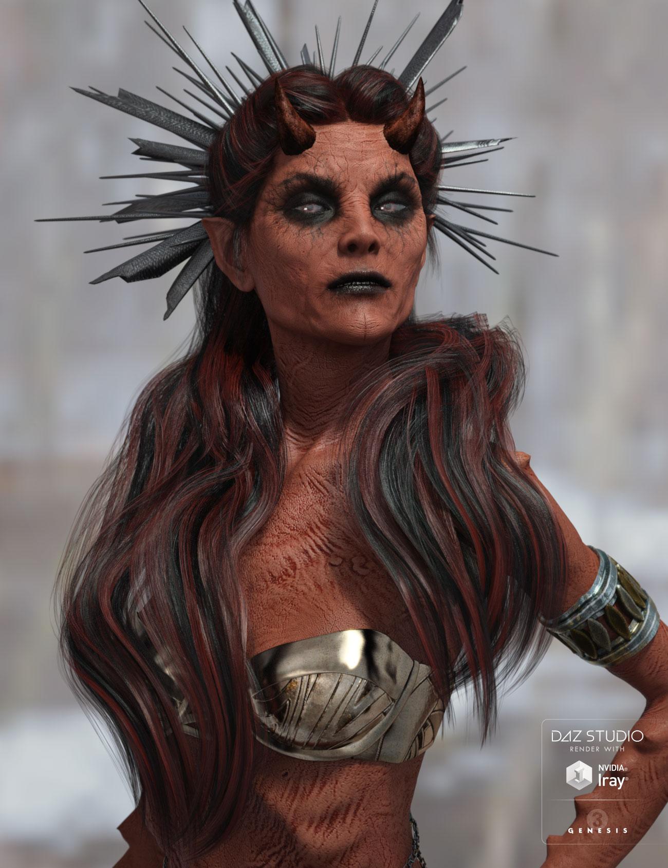 Reyna Hair for Genesis 3 Female(s) by: AprilYSH, 3D Models by Daz 3D