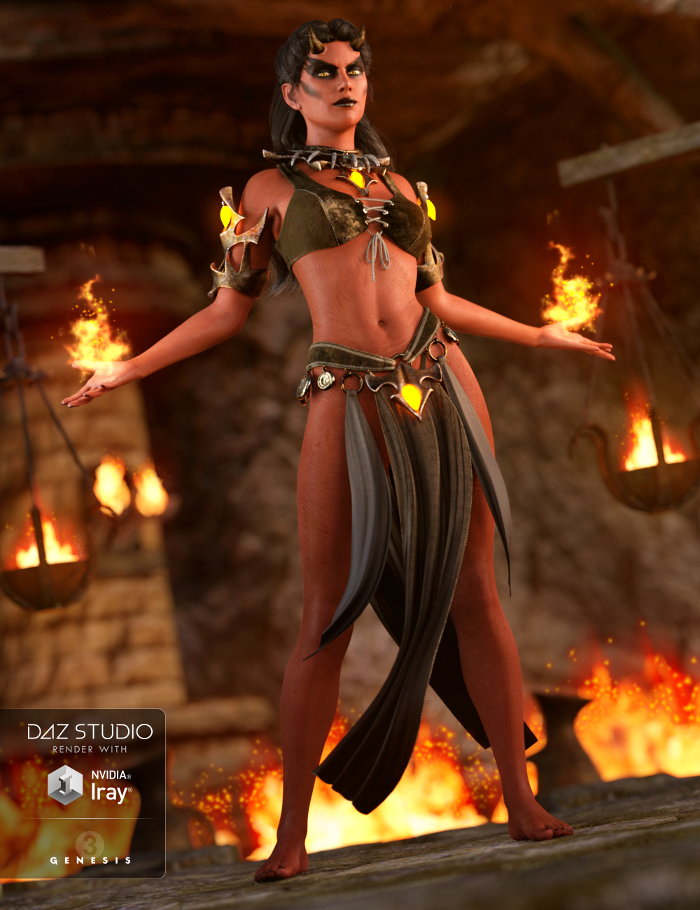 Daemon Outfit for Genesis 3 Female(s) by: Anna BenjaminMada, 3D Models by Daz 3D