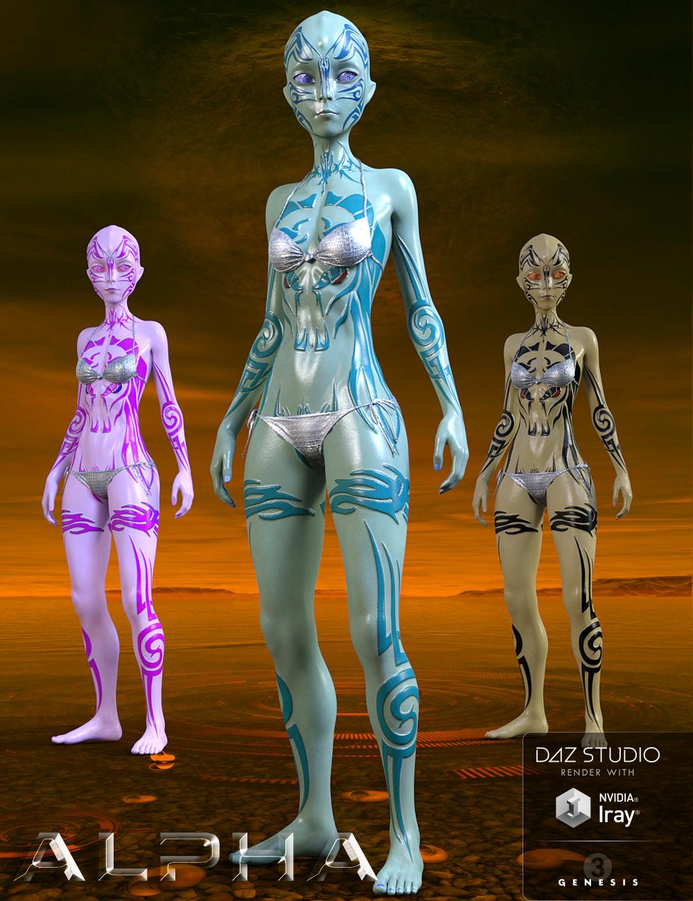 Alpha for Genesis 3 Female by: Marcius, 3D Models by Daz 3D