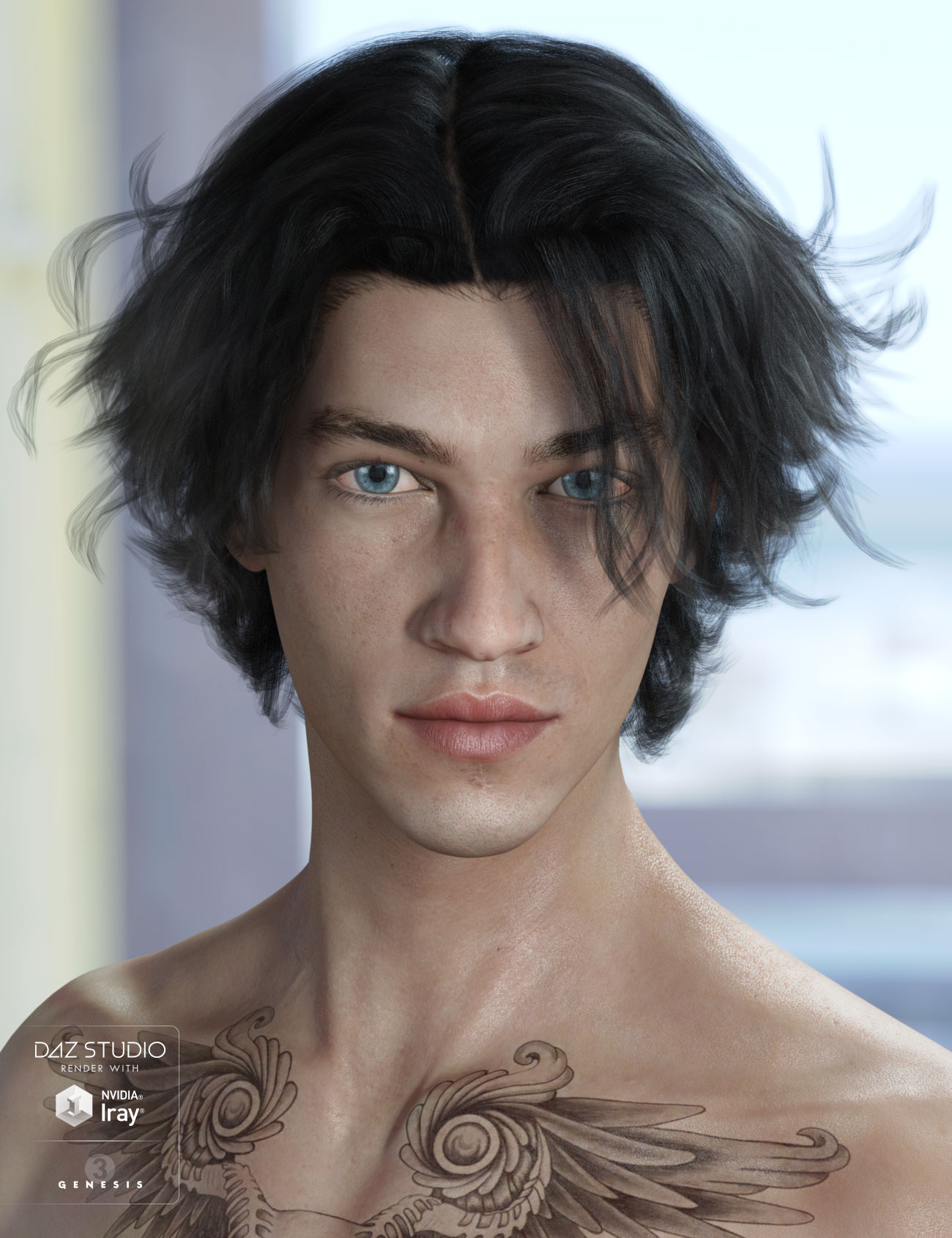 Heath Hair for Genesis 3 Male(s) & Female(s) by: AprilYSH, 3D Models by Daz 3D