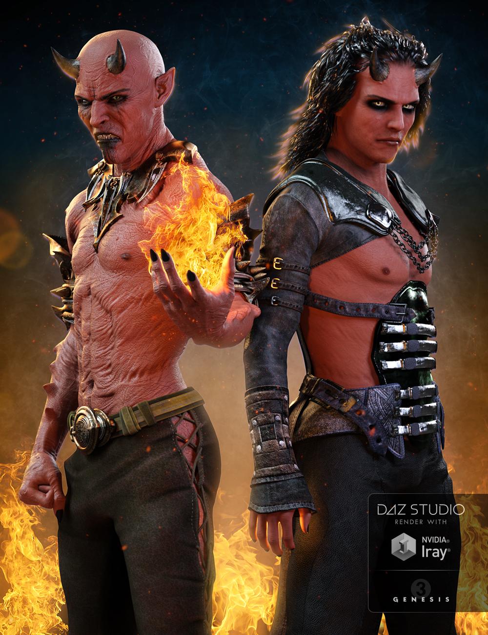 Damien Demon for Genesis 3 Male(s) by: , 3D Models by Daz 3D