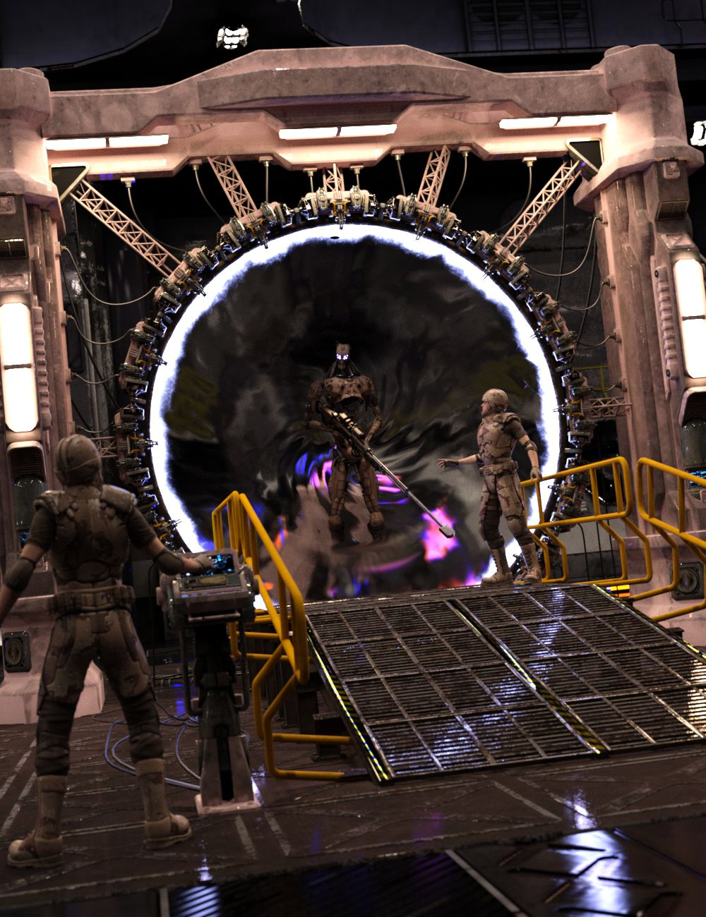 Time Gate by: DzFire, 3D Models by Daz 3D