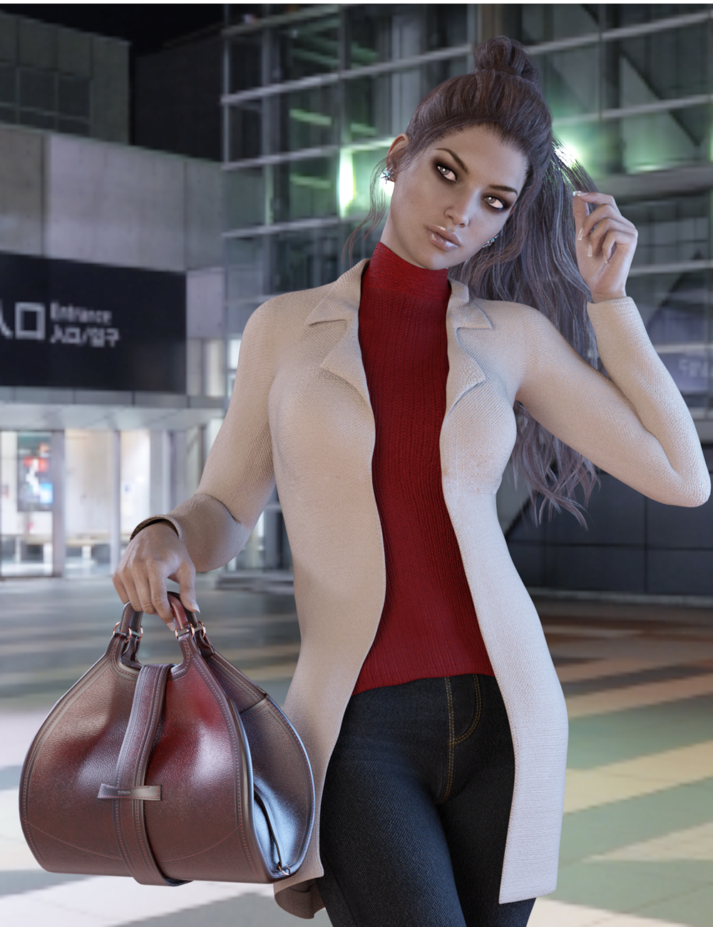 X-Fashion Chic Winter Outfit for Genesis 3 Female(s) by: xtrart-3d, 3D Models by Daz 3D