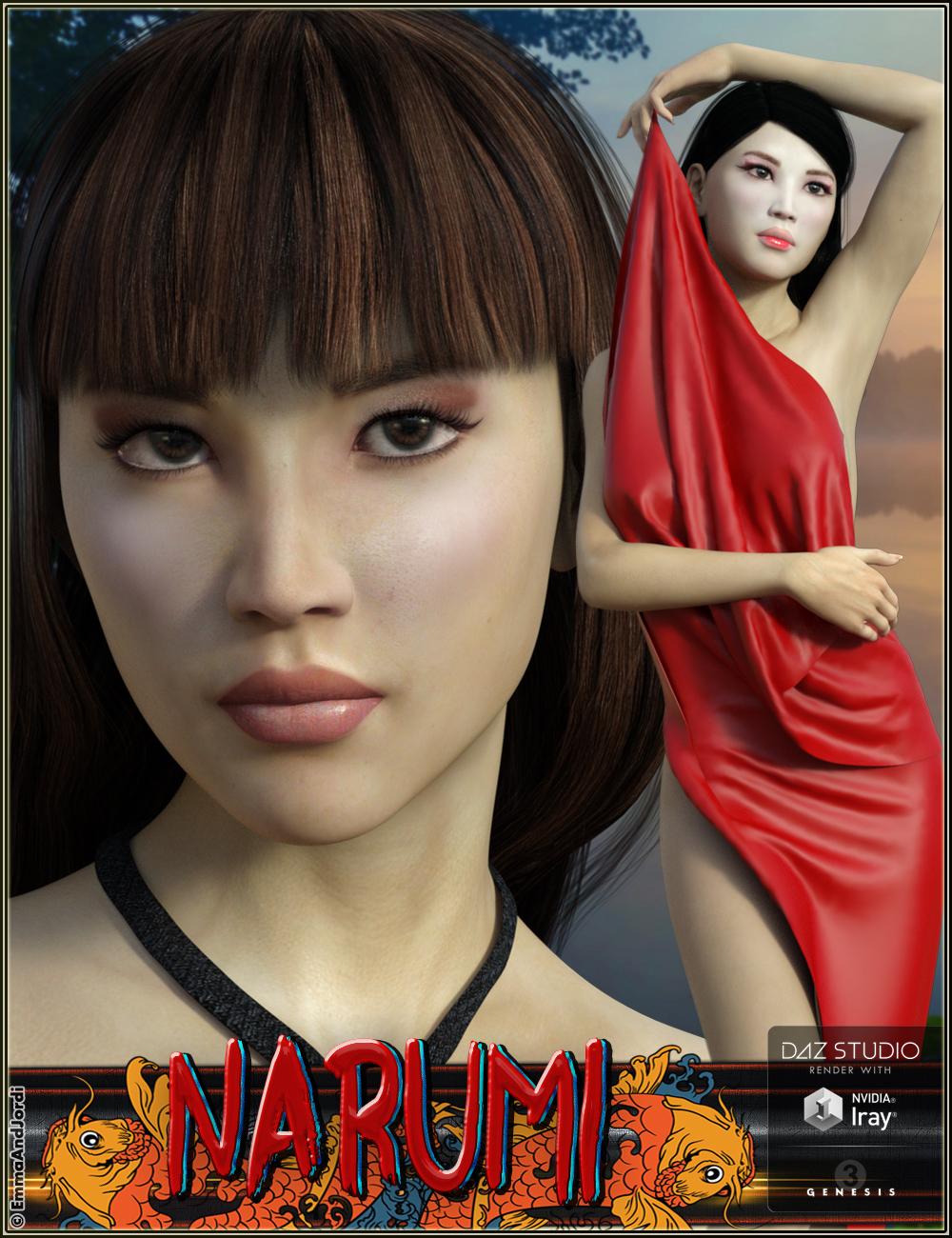 EJ Narumi for Genesis 3 Female(s) by: EmmaAndJordi, 3D Models by Daz 3D