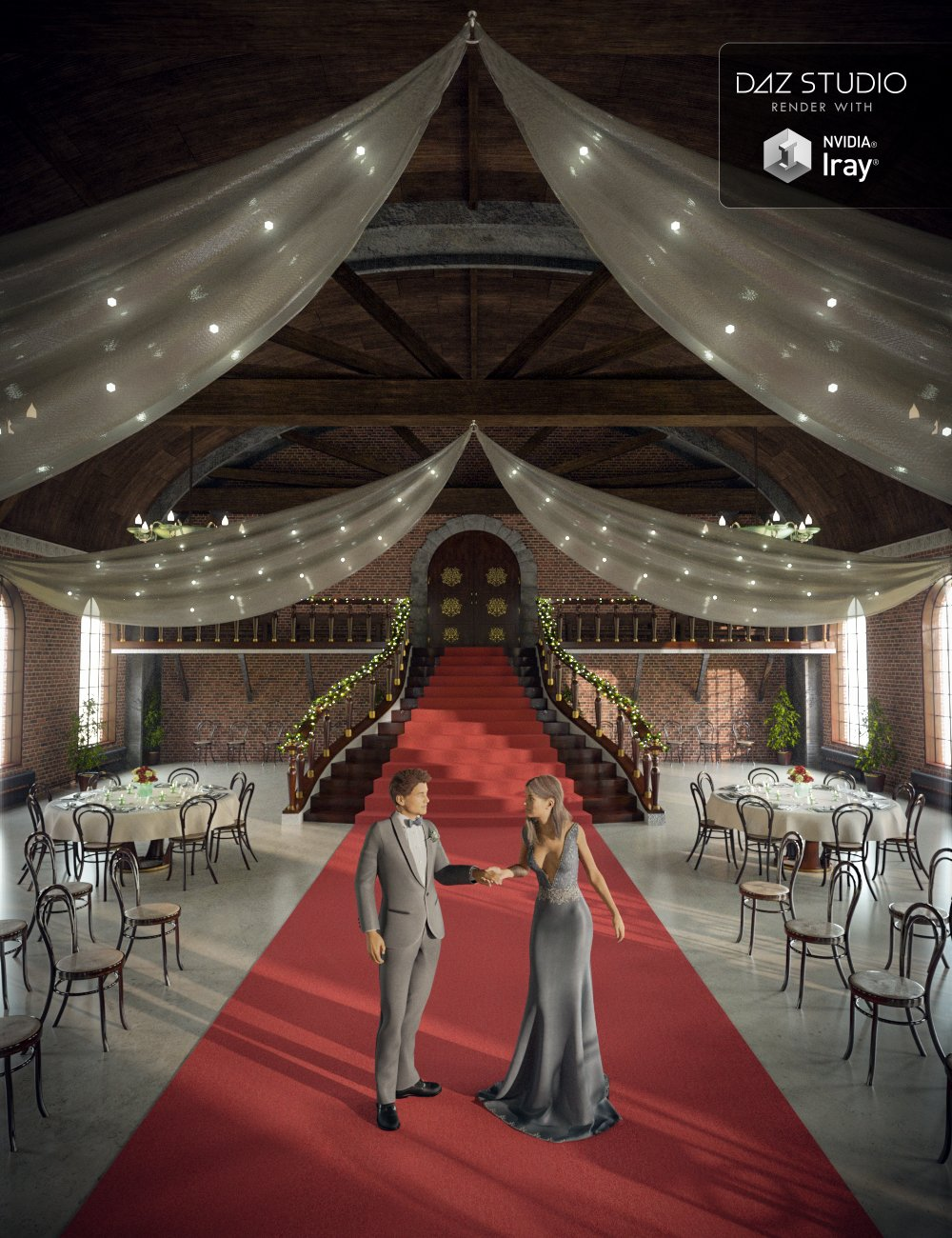 Enchanted Ballroom by: Mely3D, 3D Models by Daz 3D