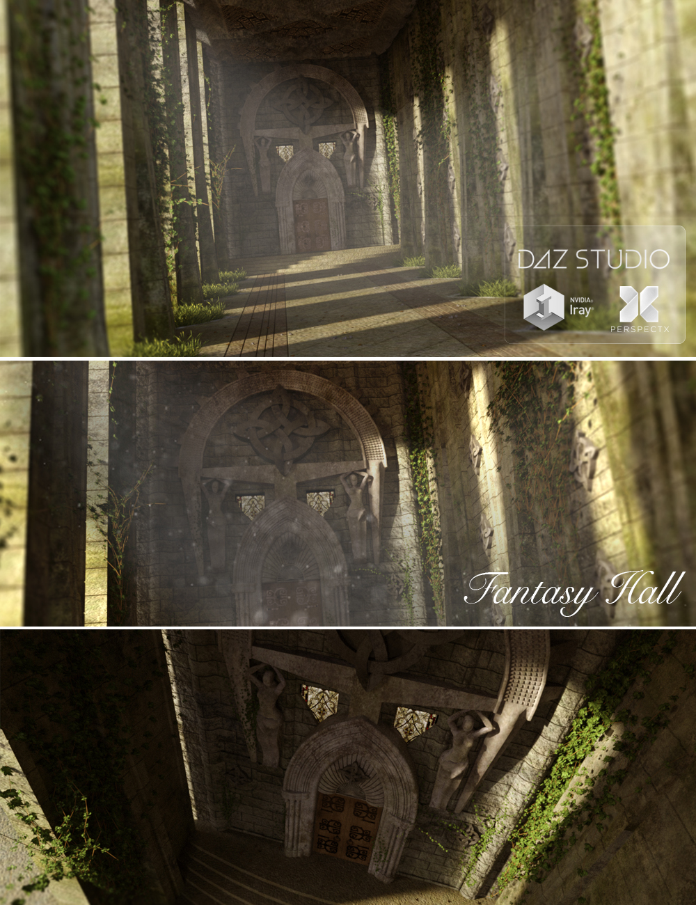 Ancient Fantasy Hall by: PerspectX, 3D Models by Daz 3D